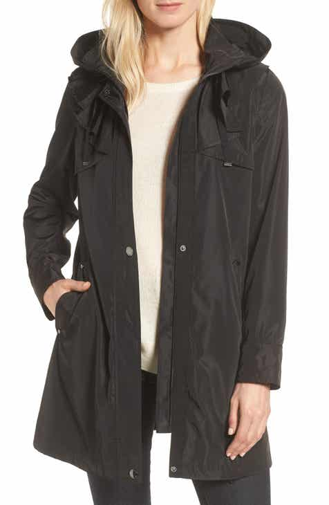 37e7a50c4774 Via Spiga Ruffle Detail Packable Raincoat