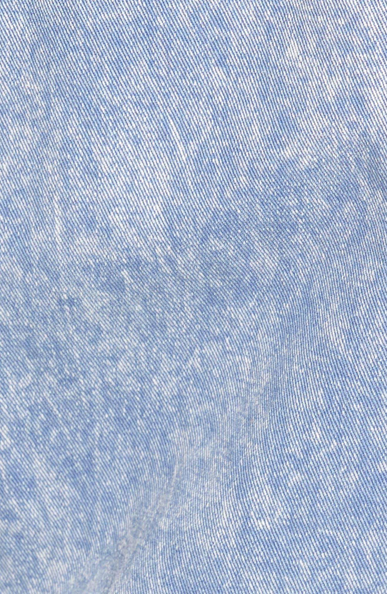 Oversize Cotton Canvas Trucker Jacket,                             Alternate thumbnail 5, color,                             Pacific Blue