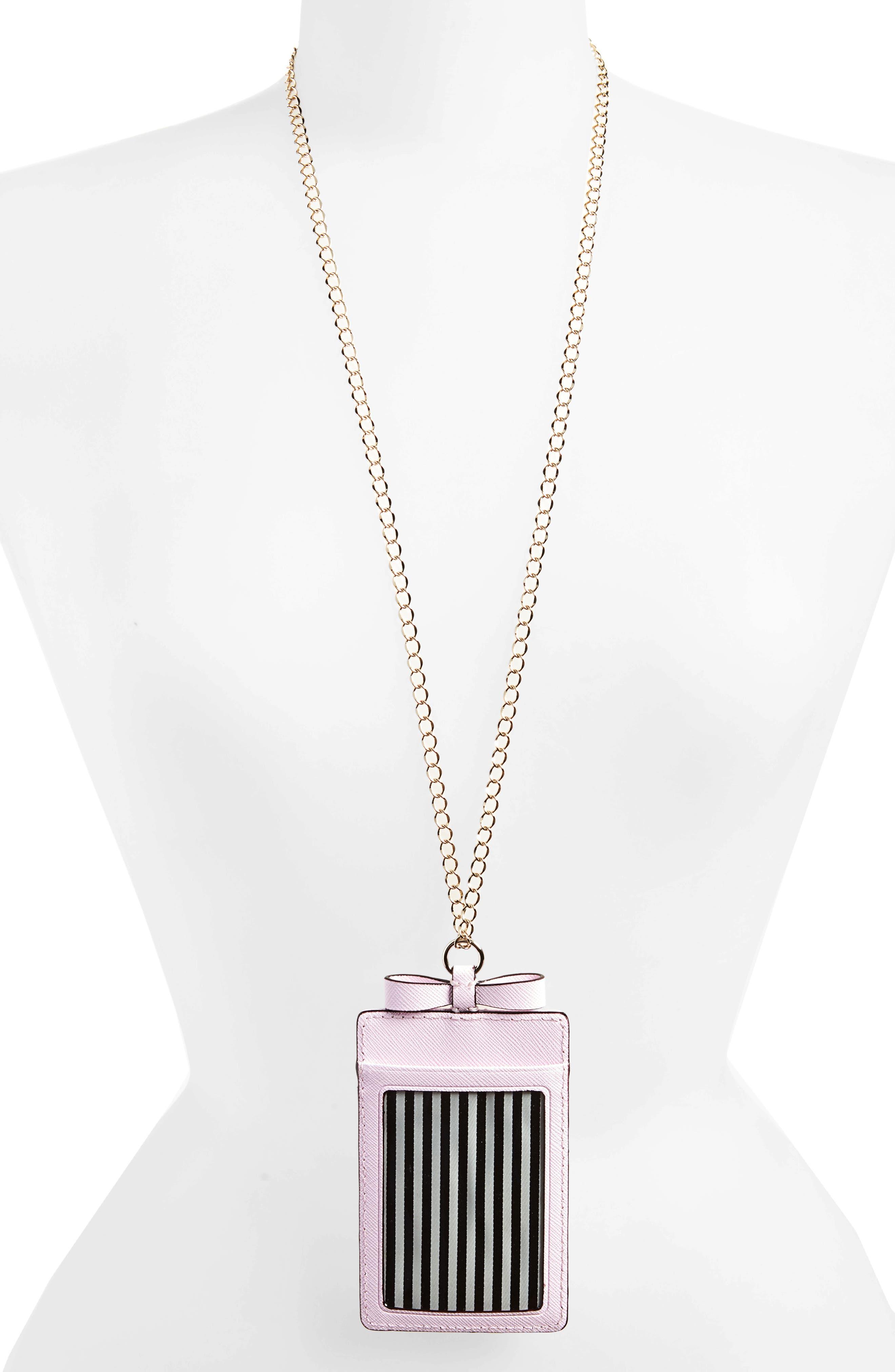 cameron street lanyard card holder,                             Alternate thumbnail 2, color,                             Pink Lemonade