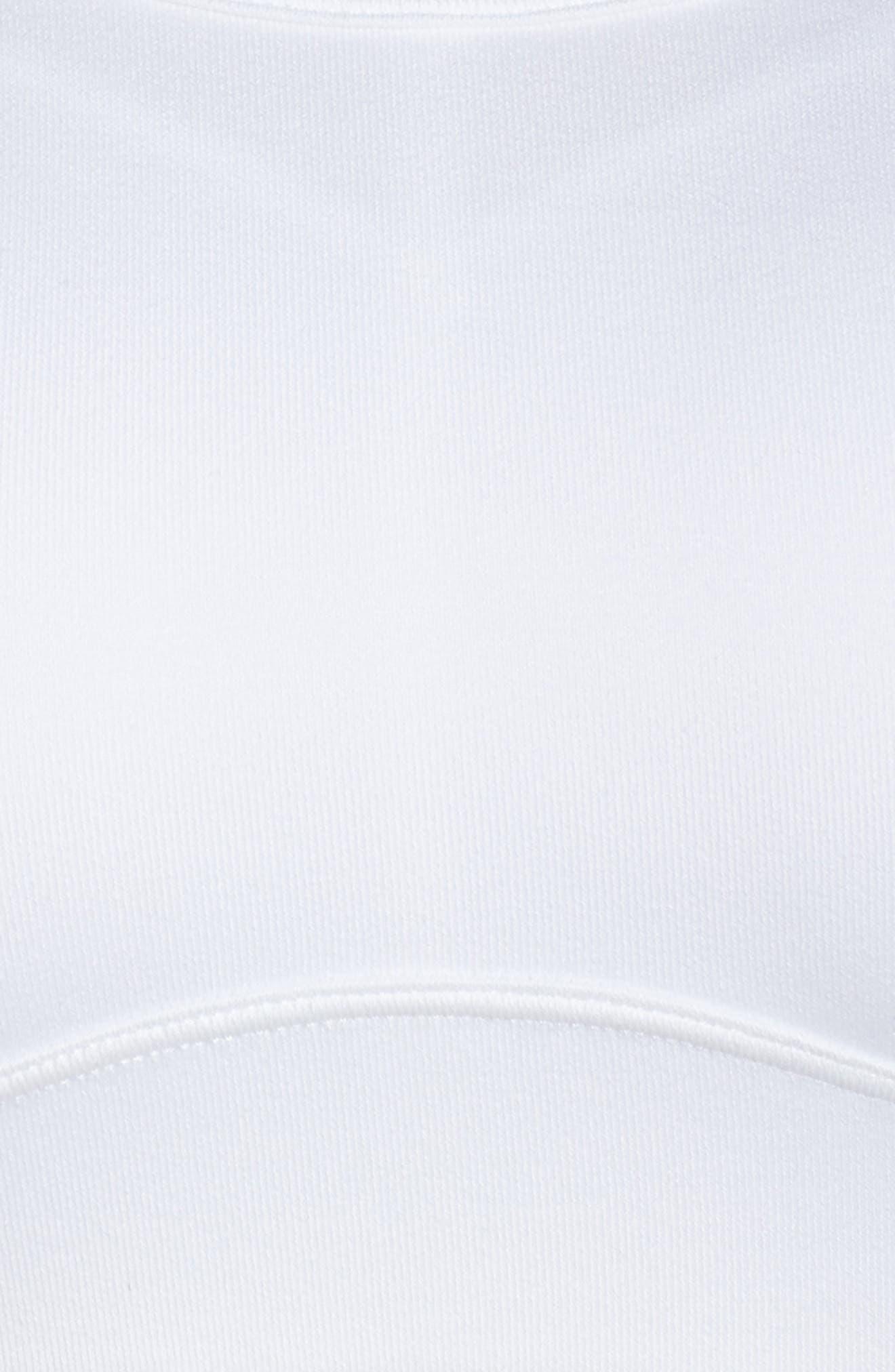 Fiona Sports Bra,                             Alternate thumbnail 6, color,                             White/ Sterling