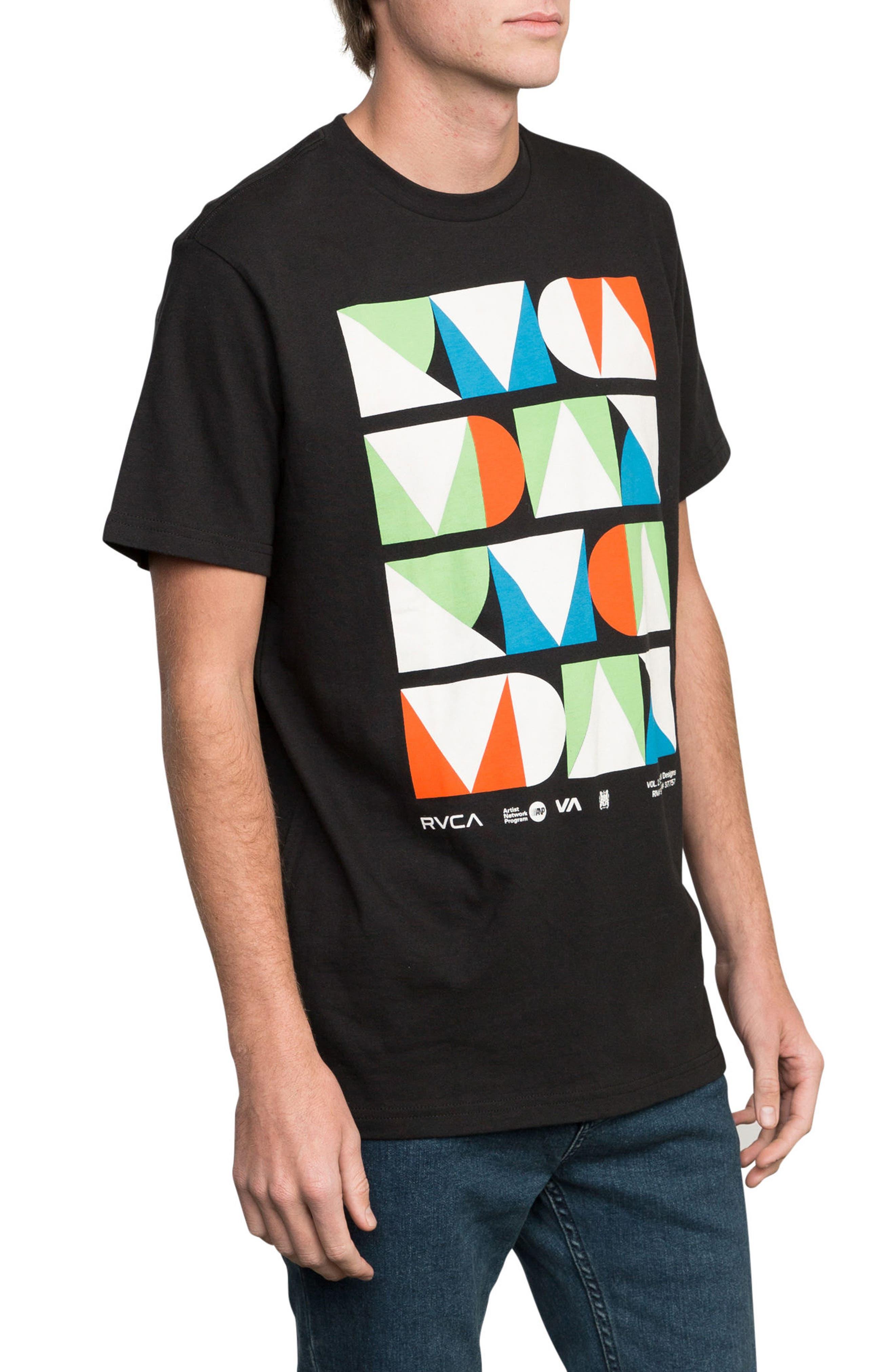 Modern Logo Graphic T-Shirt,                             Alternate thumbnail 3, color,                             Black