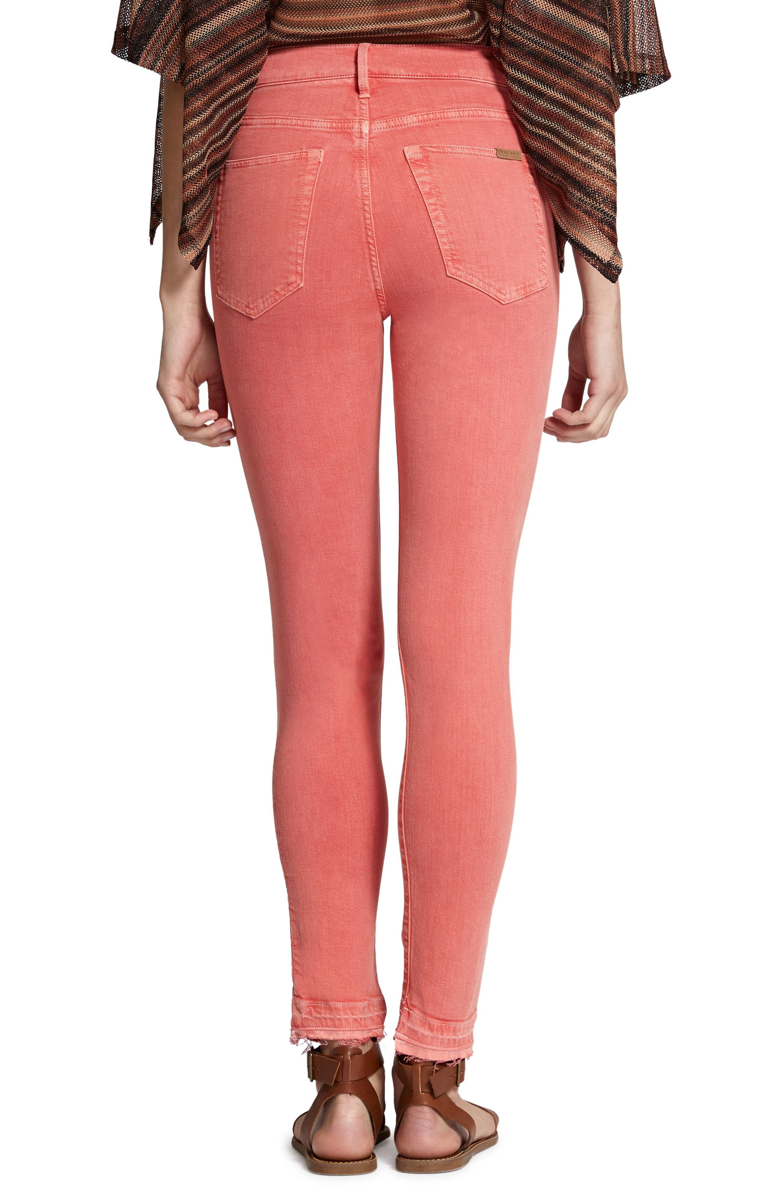 Robbie High Waist Ankle Jeans,                             Alternate thumbnail 2, color,                             Chili Wash