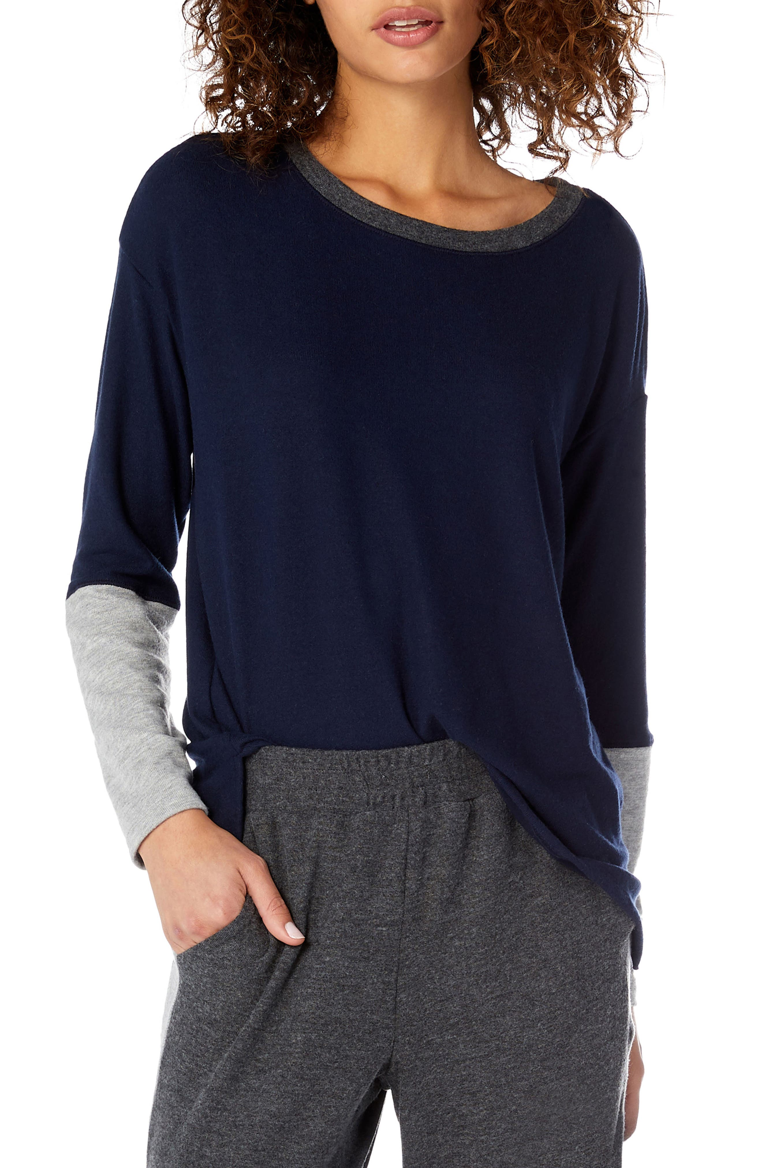 MADISON COLORBLOCK BOATNECK LONG SLEEVE TEE