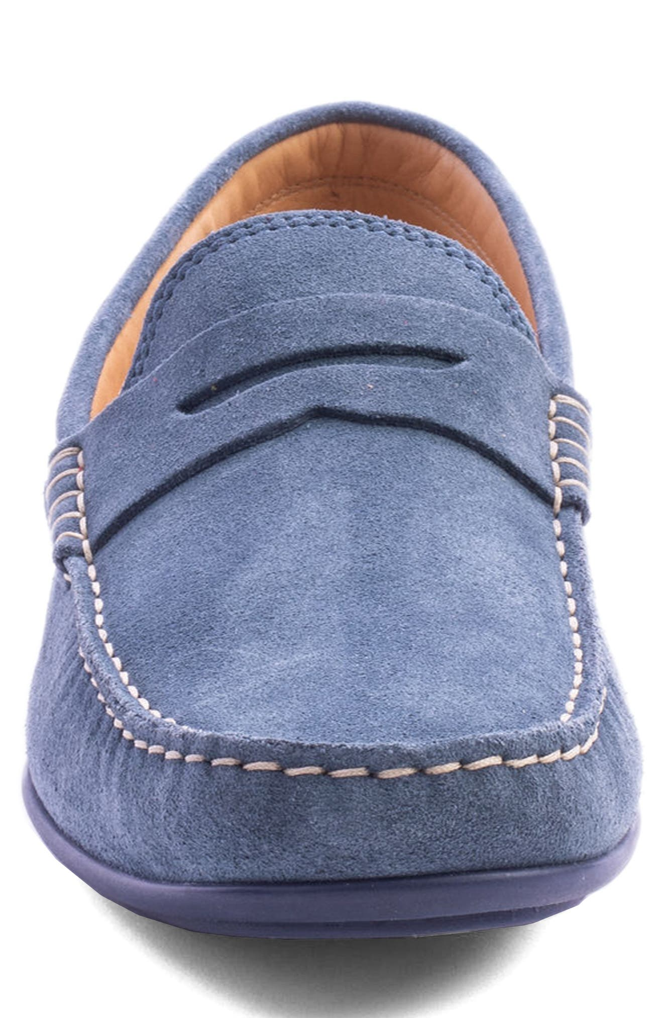 'Parkers' Penny Loafer,                             Alternate thumbnail 4, color,                             Indigo