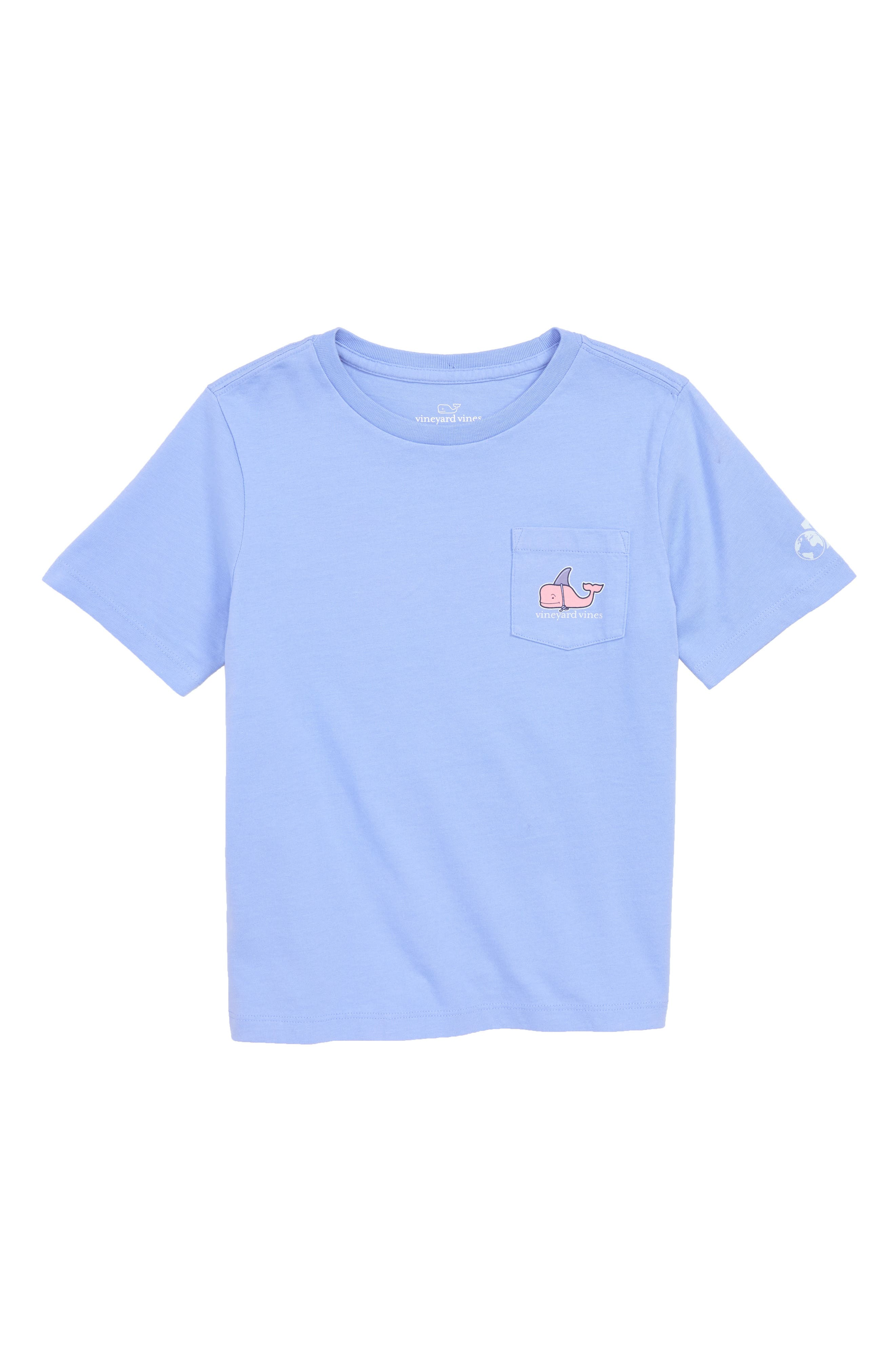 x Shark Week<sup>™</sup> Decoy Whale Pocket T-Shirt,                             Main thumbnail 1, color,                             Ocean Breeze