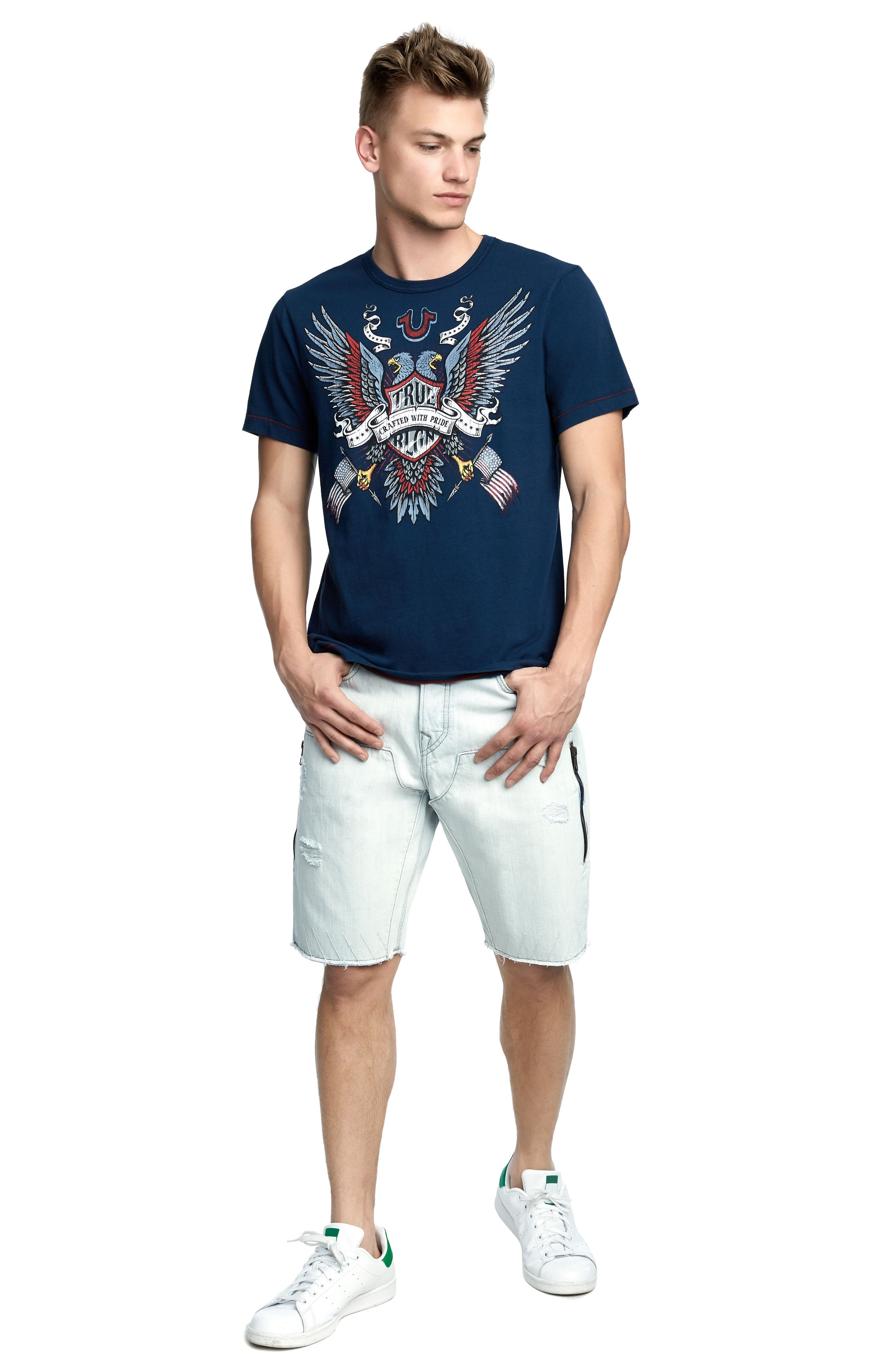 Crafted Eagle T-Shirt,                             Alternate thumbnail 3, color,                             Ace Blue