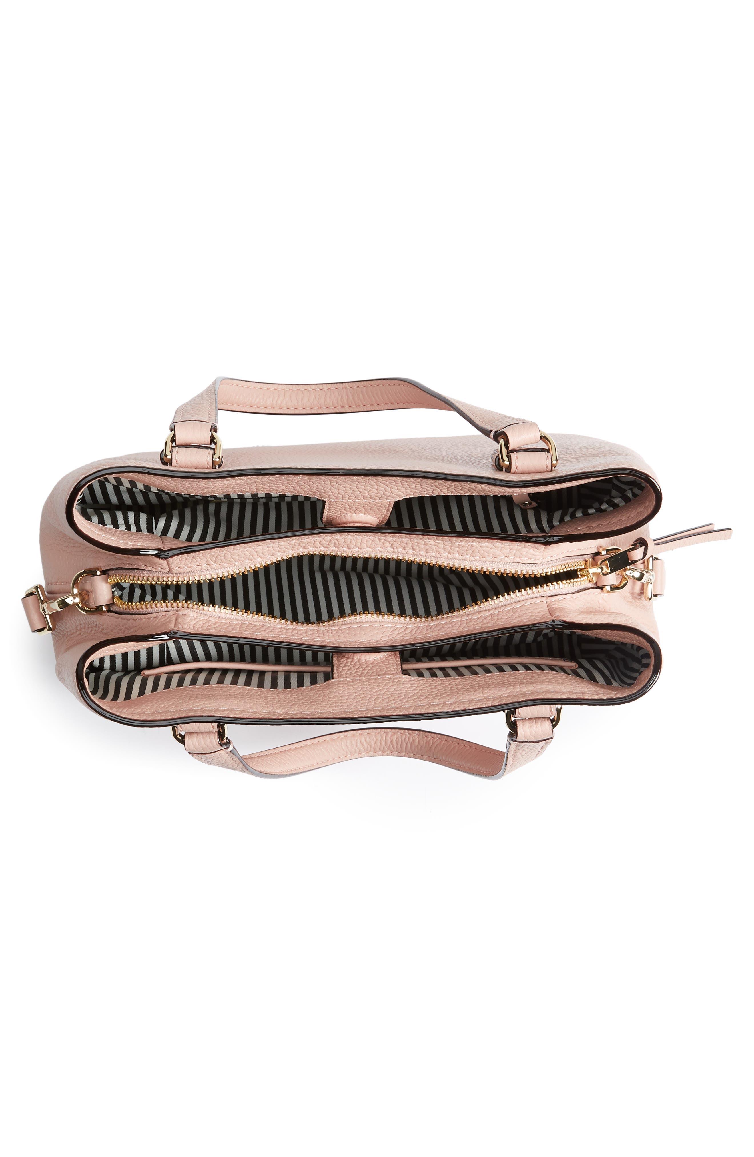 jackson street – small octavia leather satchel,                             Alternate thumbnail 4, color,                             Rosy Cheeks