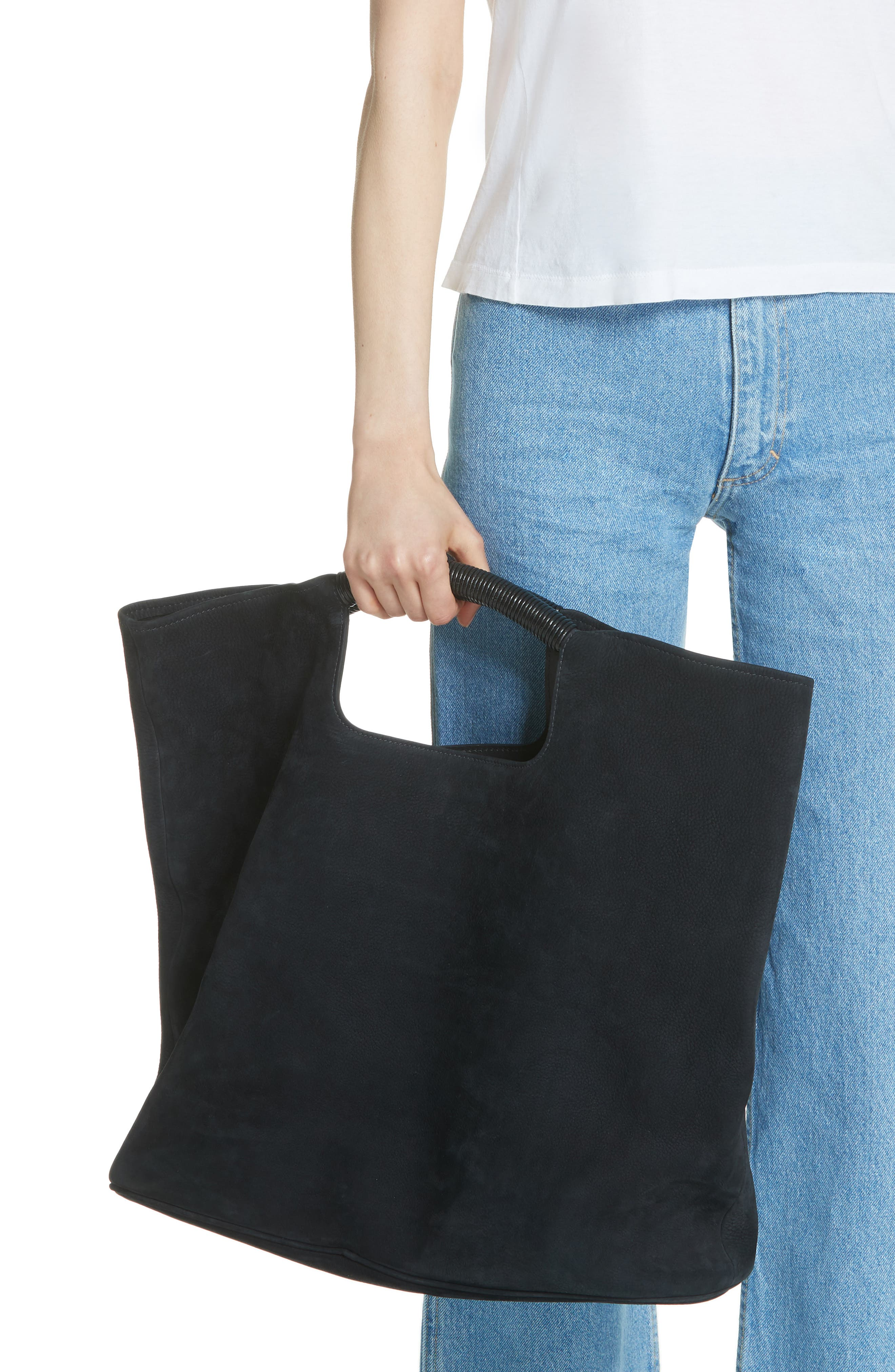 Birch Nubuck Tote,                             Alternate thumbnail 2, color,                             Black
