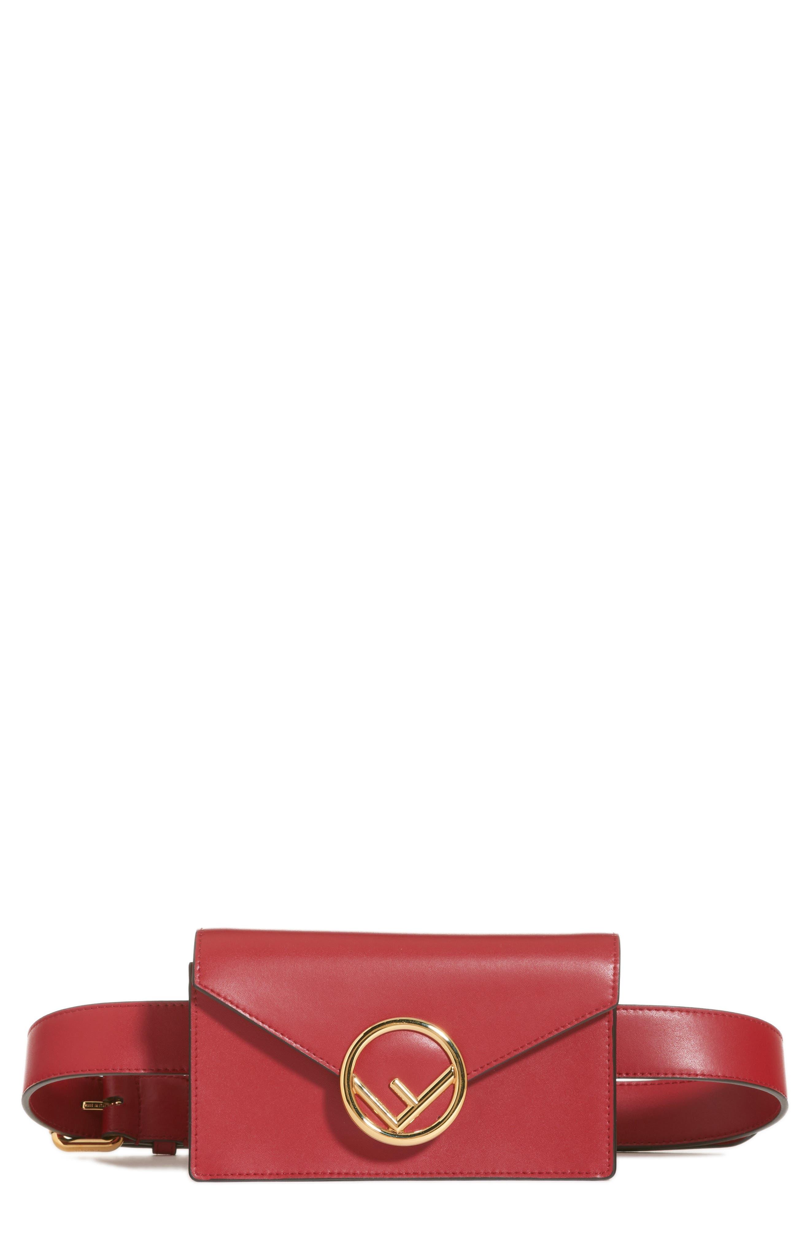 62125b9ad8963 ... new zealand fendi liberty logo calfskin leather belt bag e7b65 9c2ec