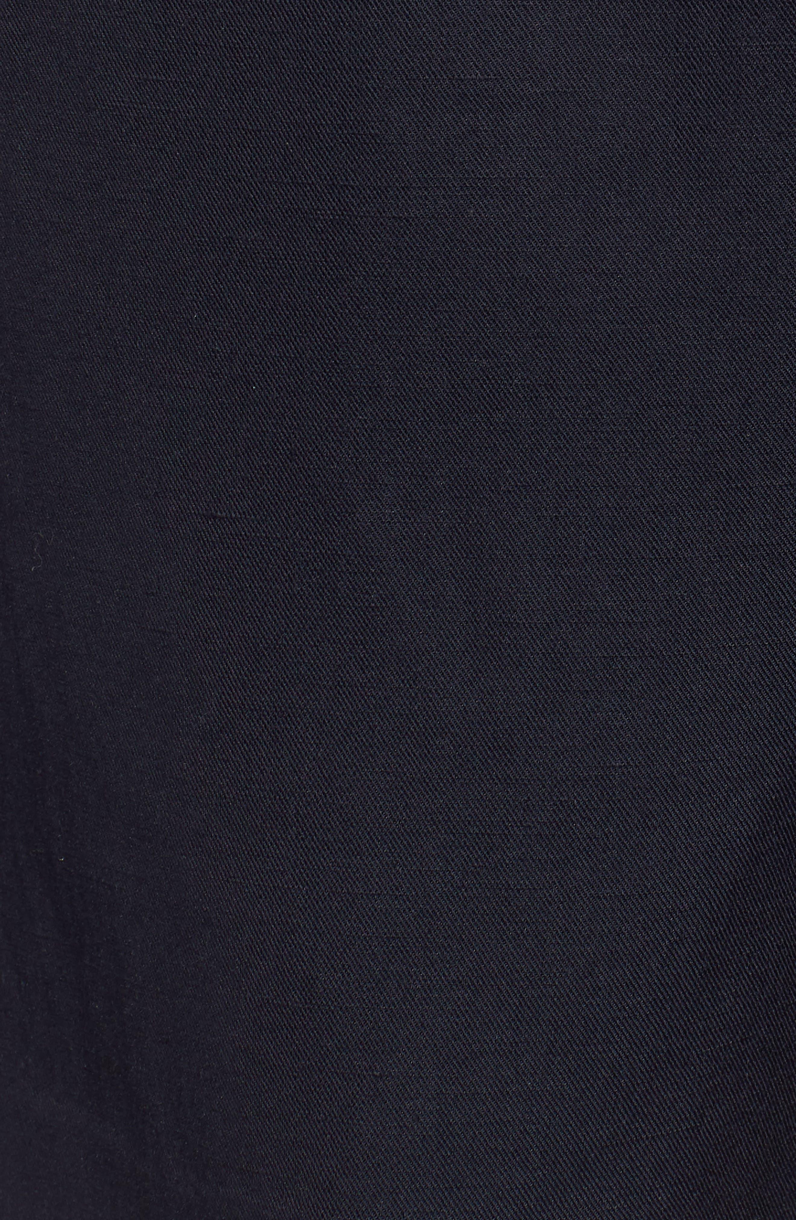 Paperbag Waist Linen & Cotton Blend Shorts,                             Alternate thumbnail 3, color,                             Navy Night