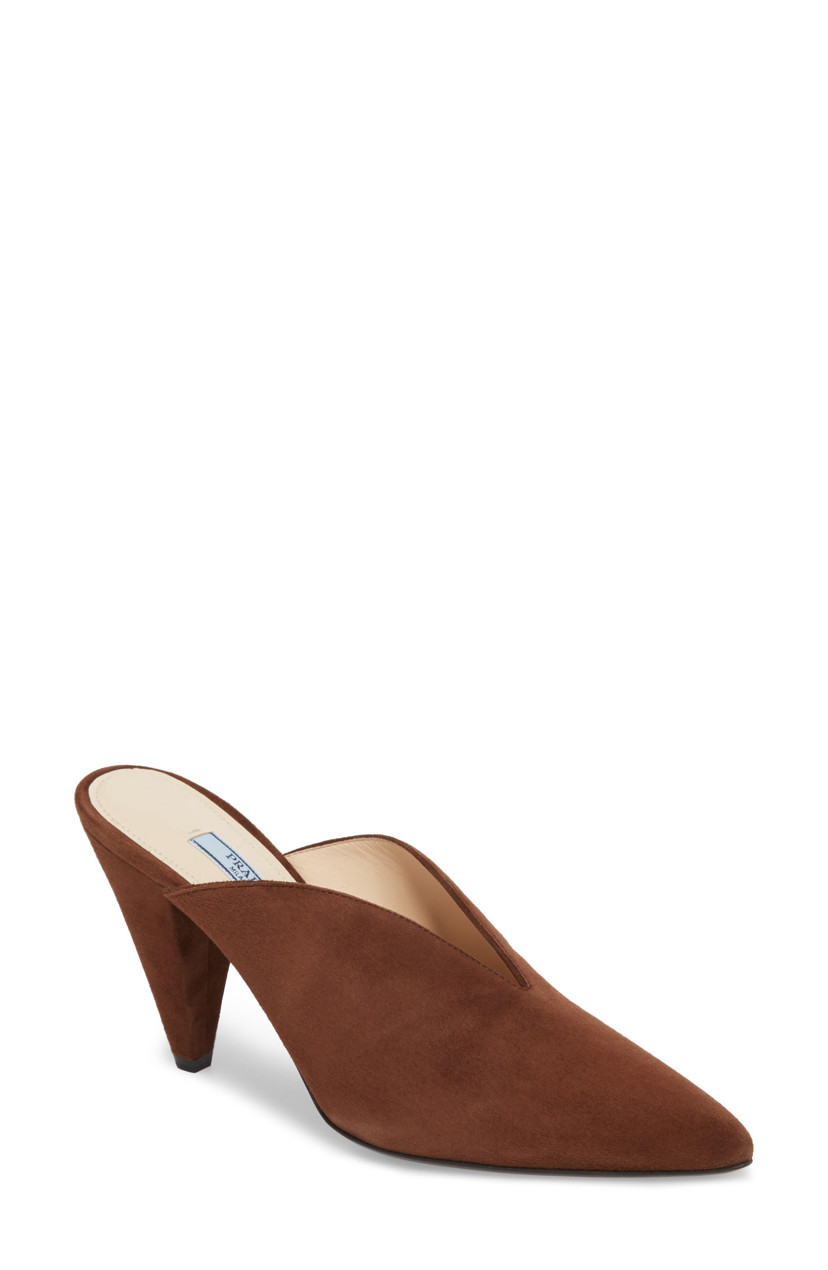Prada Pointy Toe Mule (Women) (Nordstrom Exclusive)