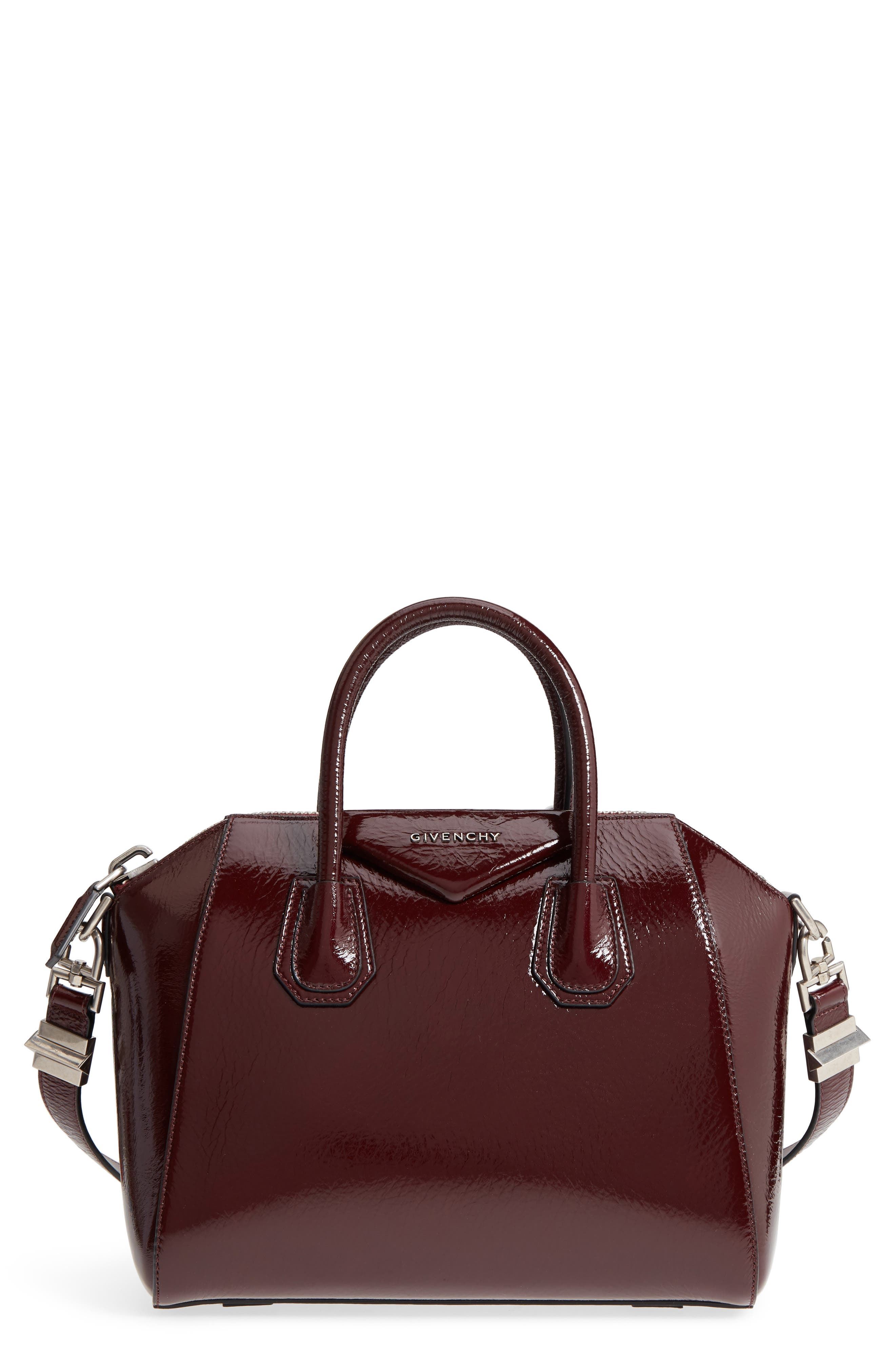 Givenchy Small Antigona Creased Patent Leather Satchel