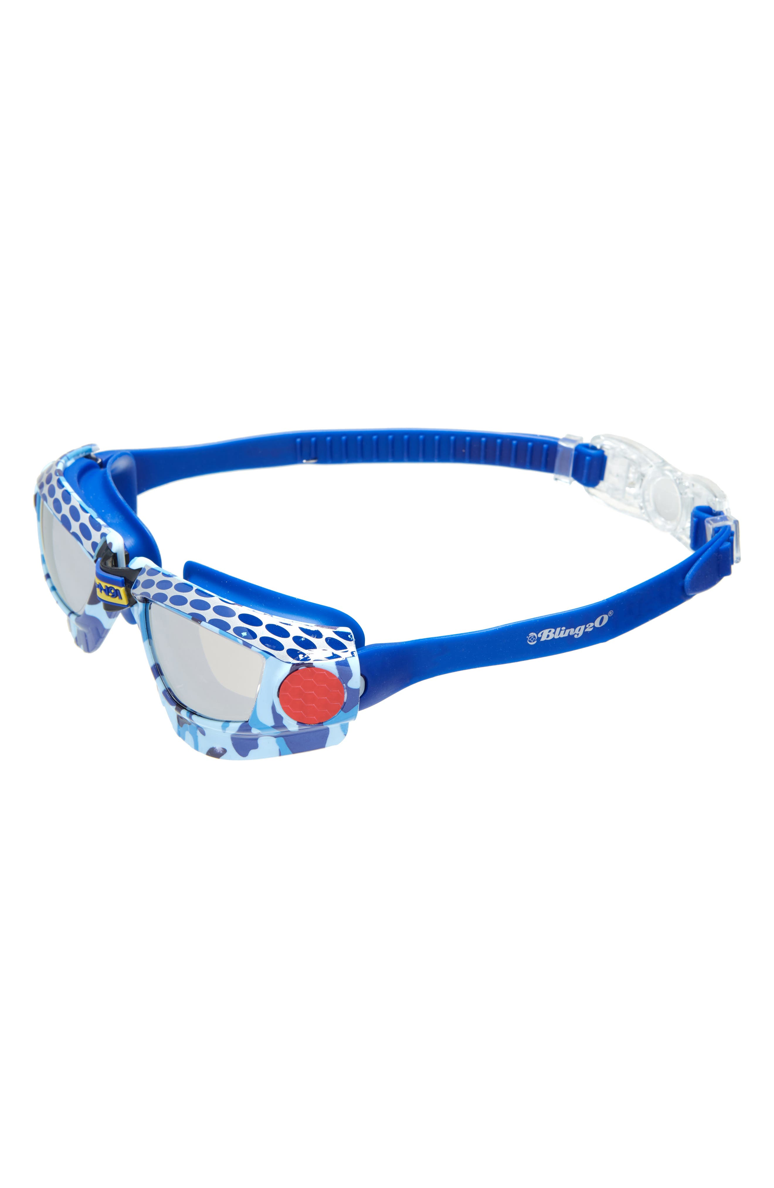 Mud Racer Swim Goggles,                             Main thumbnail 1, color,                             Blue