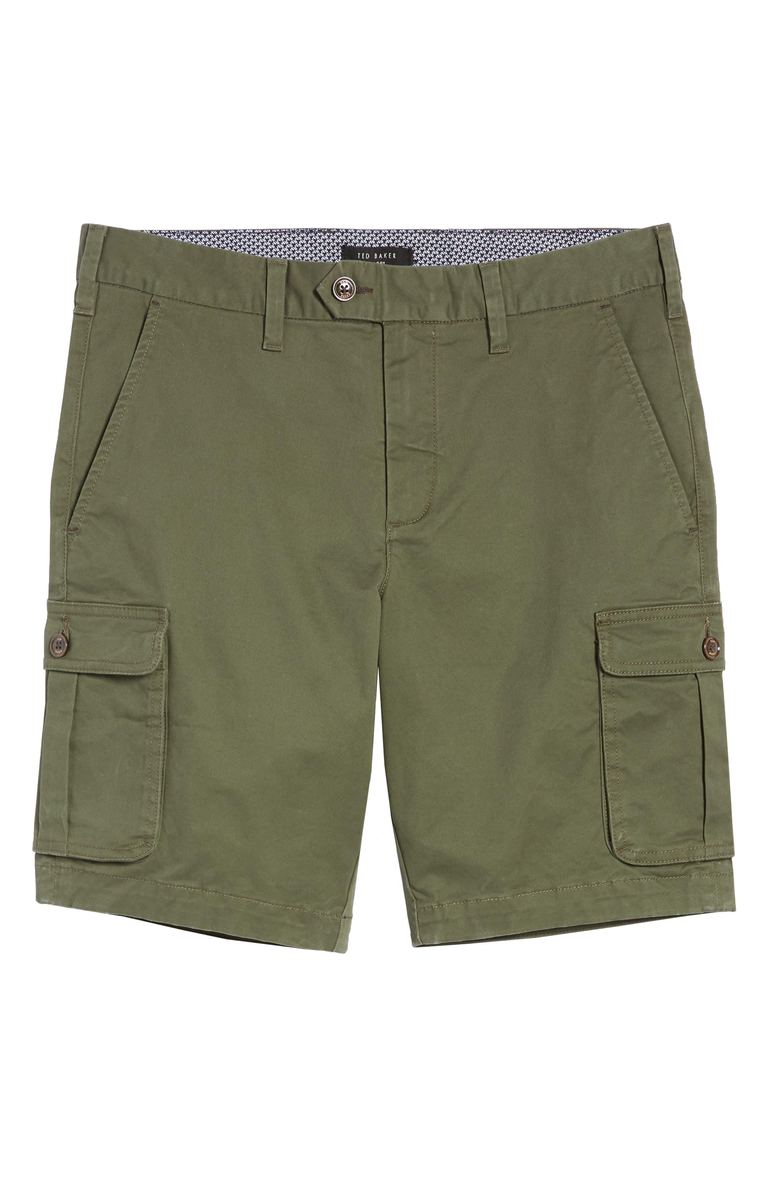 Ted Baker Cargogo Slim Fit Shorts,                             Alternate thumbnail 6, color,                             Khaki