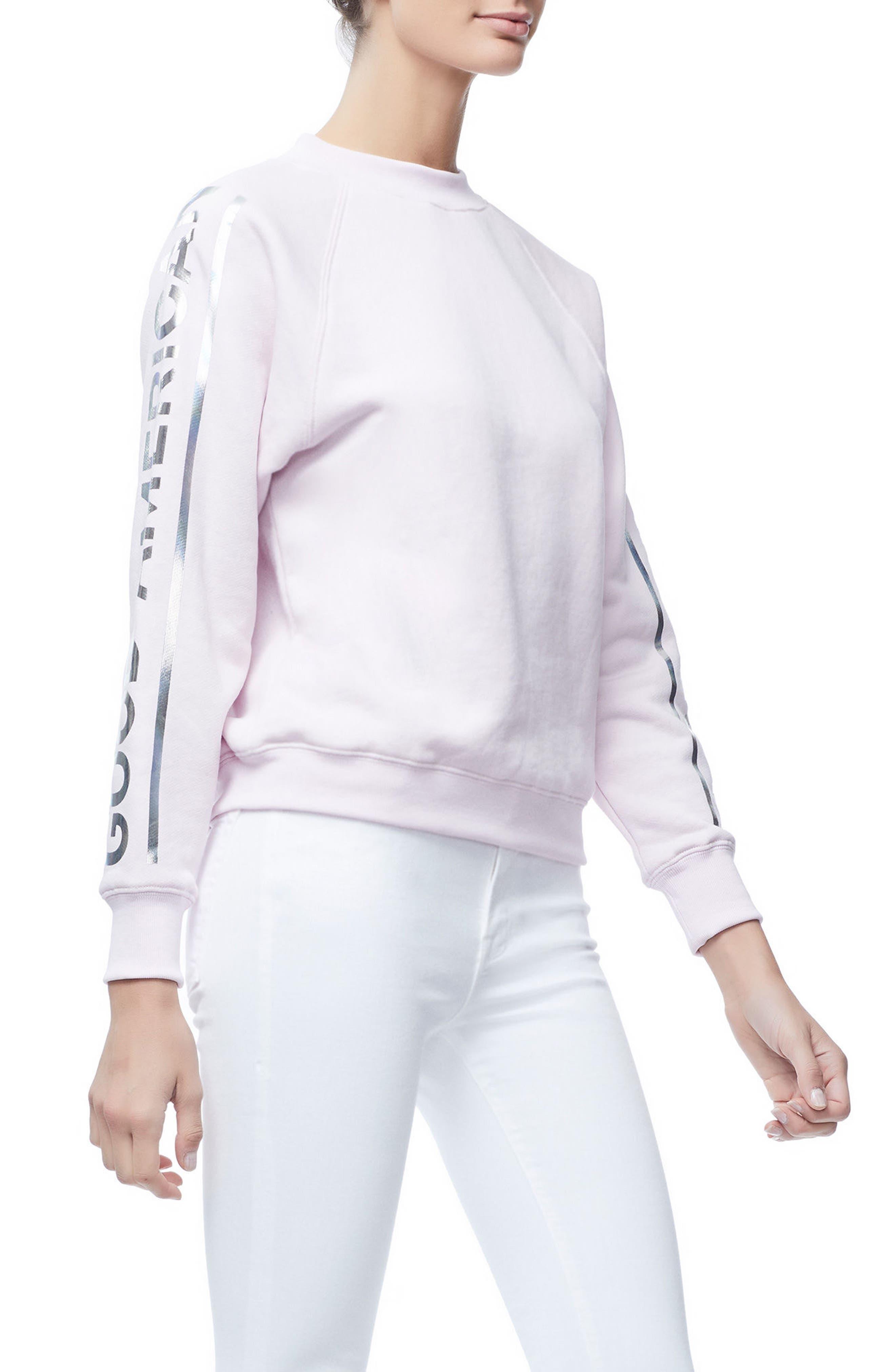Crewneck Sweatshirt,                             Alternate thumbnail 5, color,                             Pink