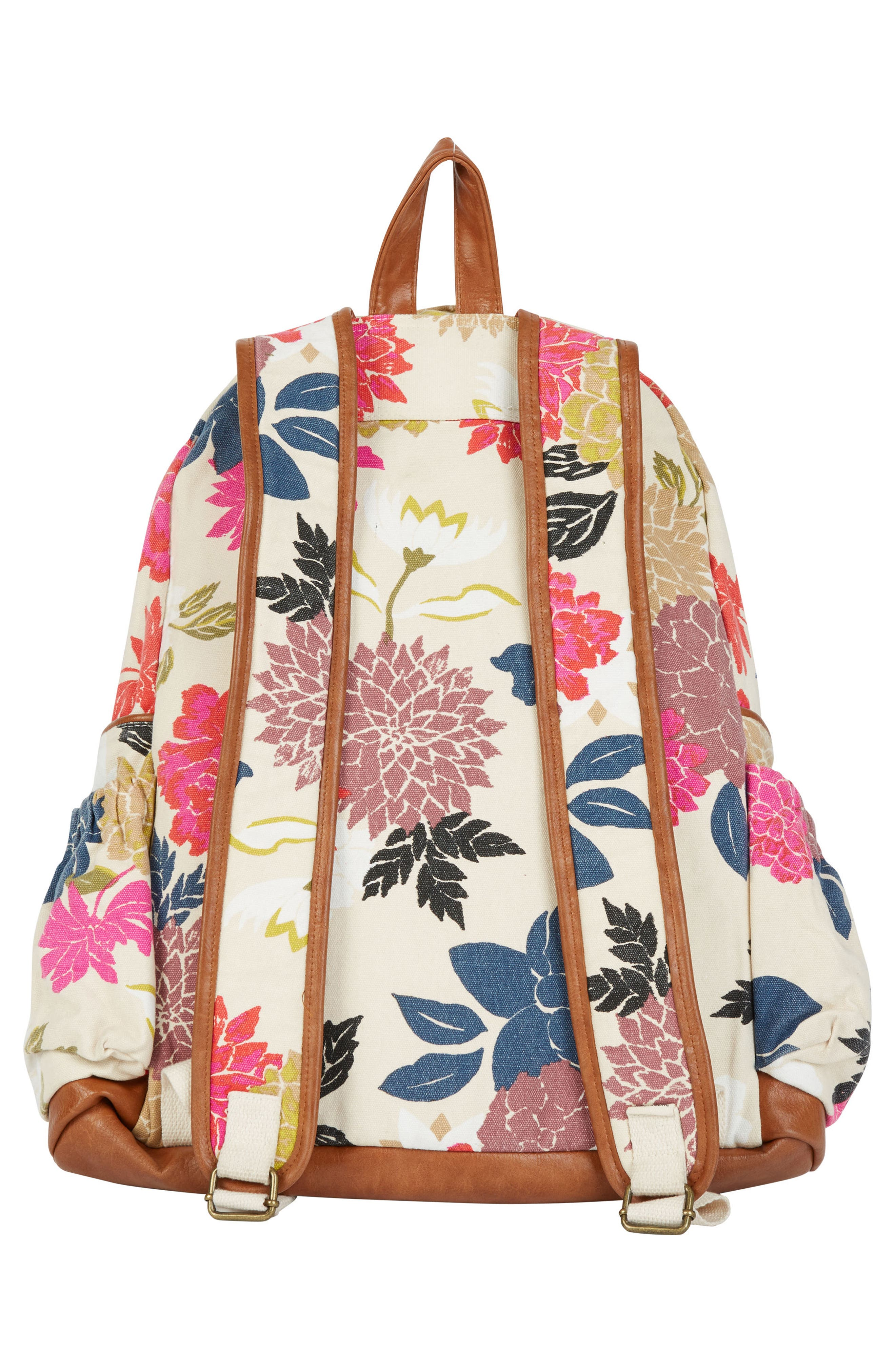 Home Abroad Floral Print Backpack,                             Alternate thumbnail 2, color,                             Cream