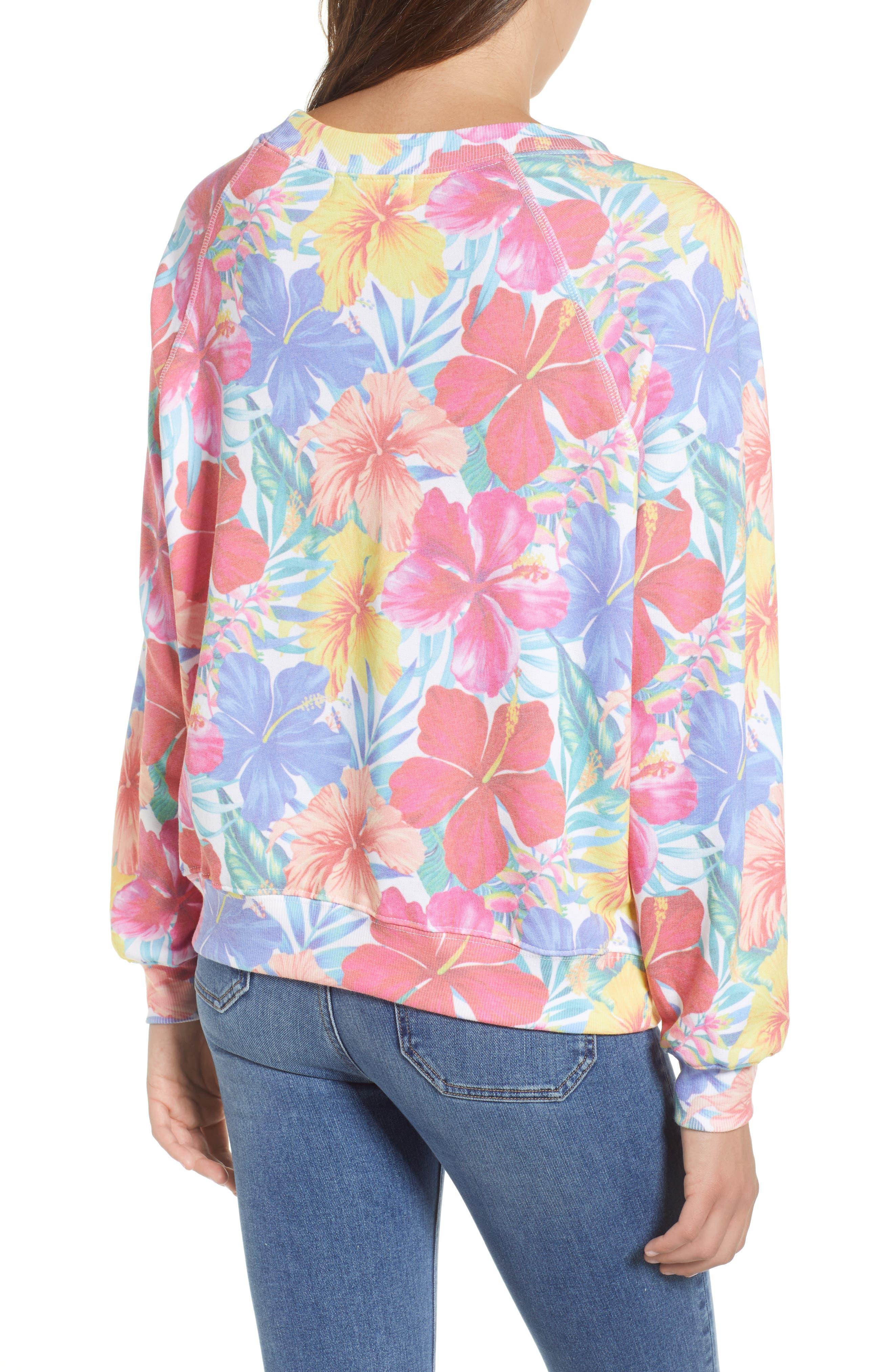 Tropicalia Sommers Sweatshirt,                             Alternate thumbnail 2, color,                             Multi Colored
