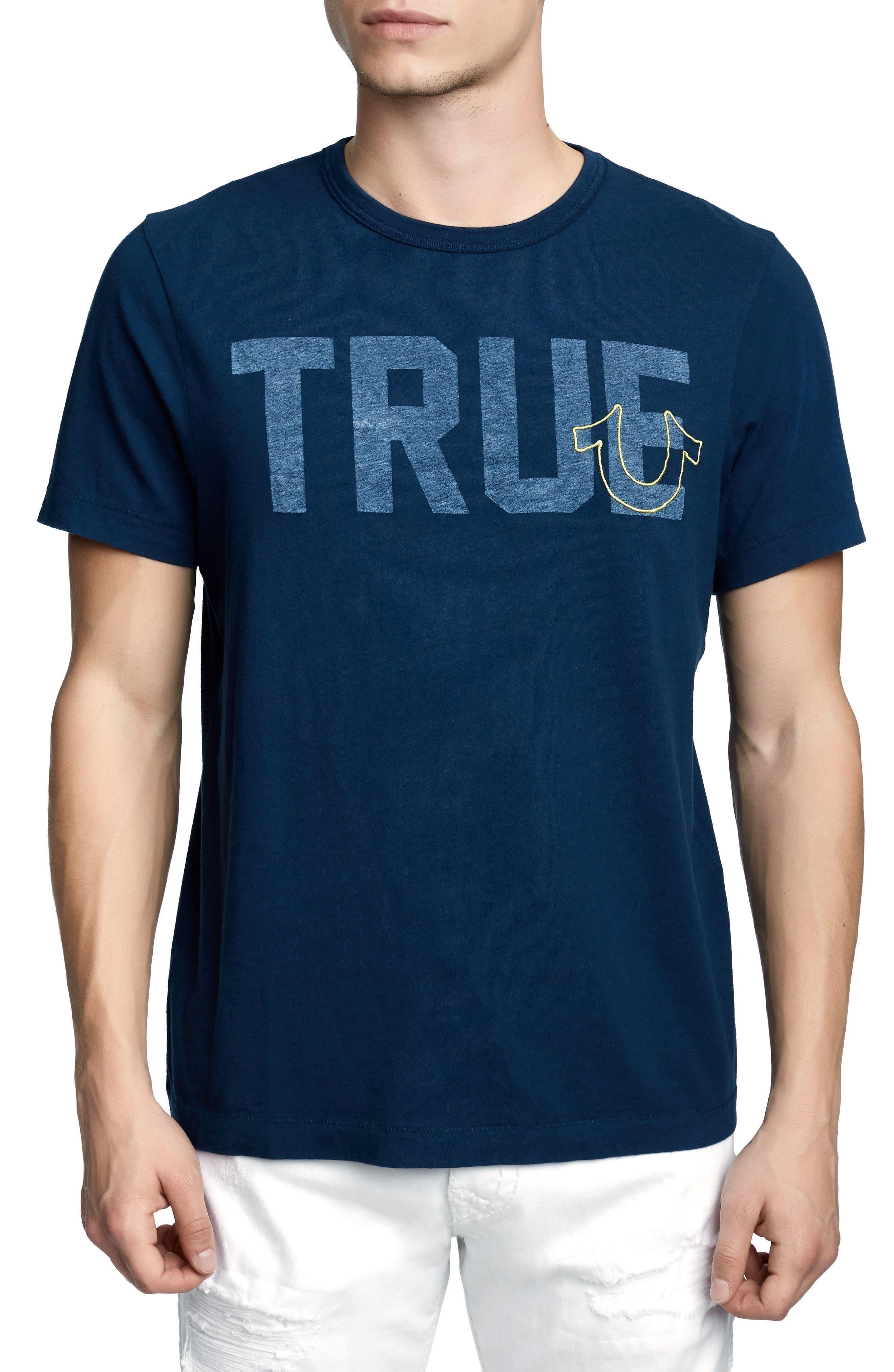 True Slogan T-Shirt,                         Main,                         color, Ace Blue