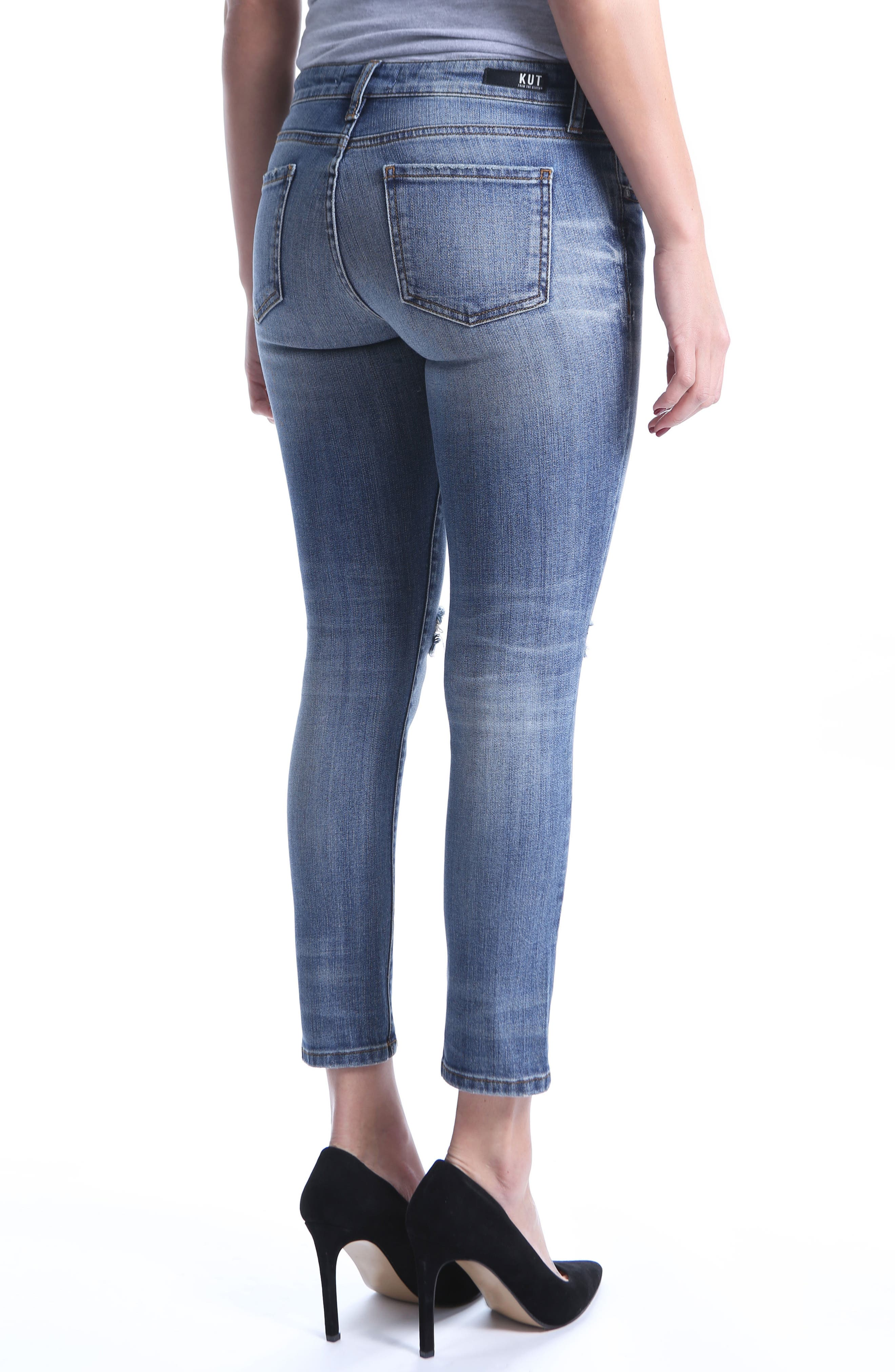 Catherine Ripped Straight Leg Ankle Jeans,                             Alternate thumbnail 2, color,                             Increase