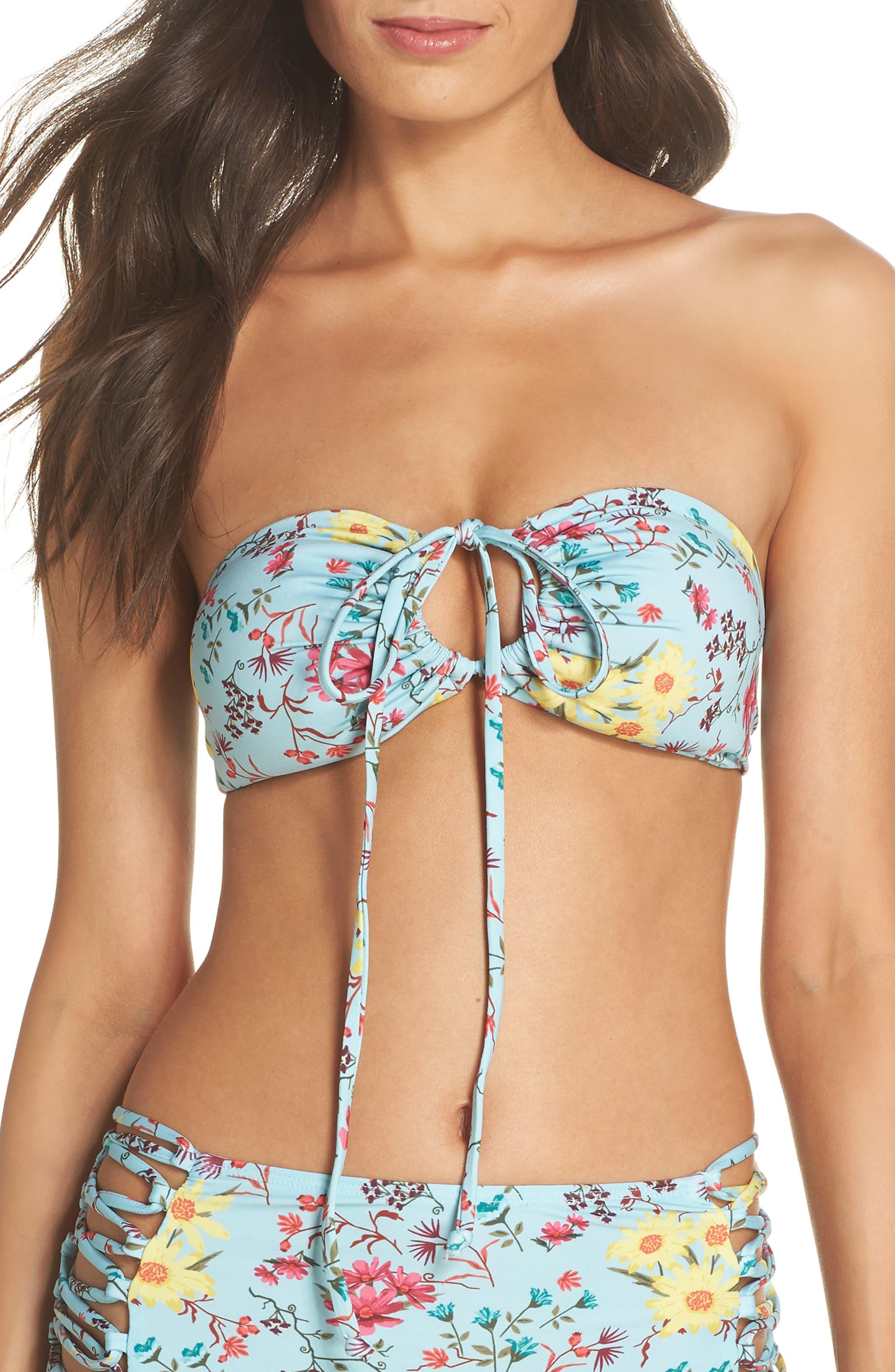 Every Way Convertible Bikini Top,                             Alternate thumbnail 2, color,                             Teal Eggshell
