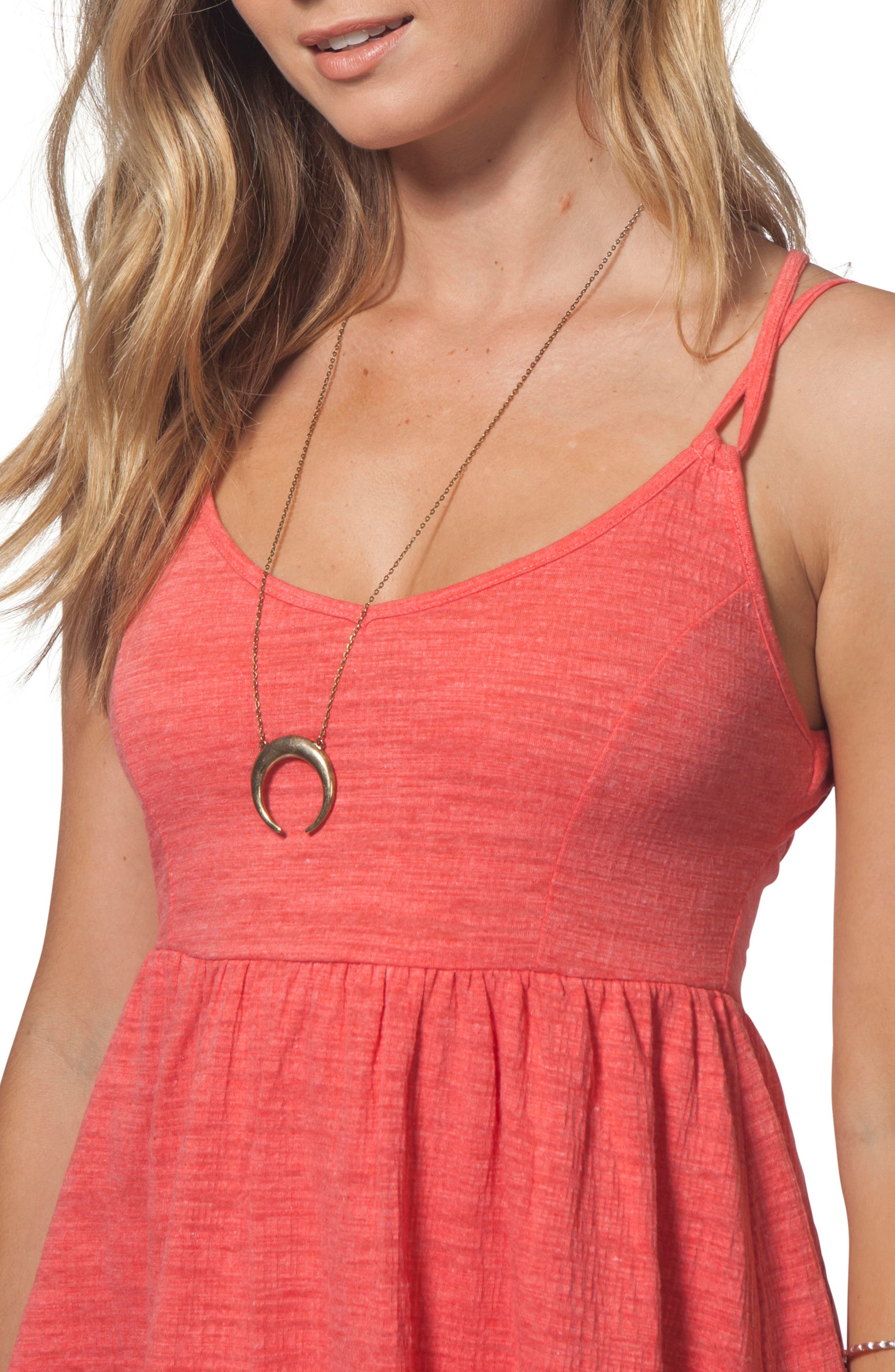 Classic Surf Dress,                             Alternate thumbnail 3, color,                             Red