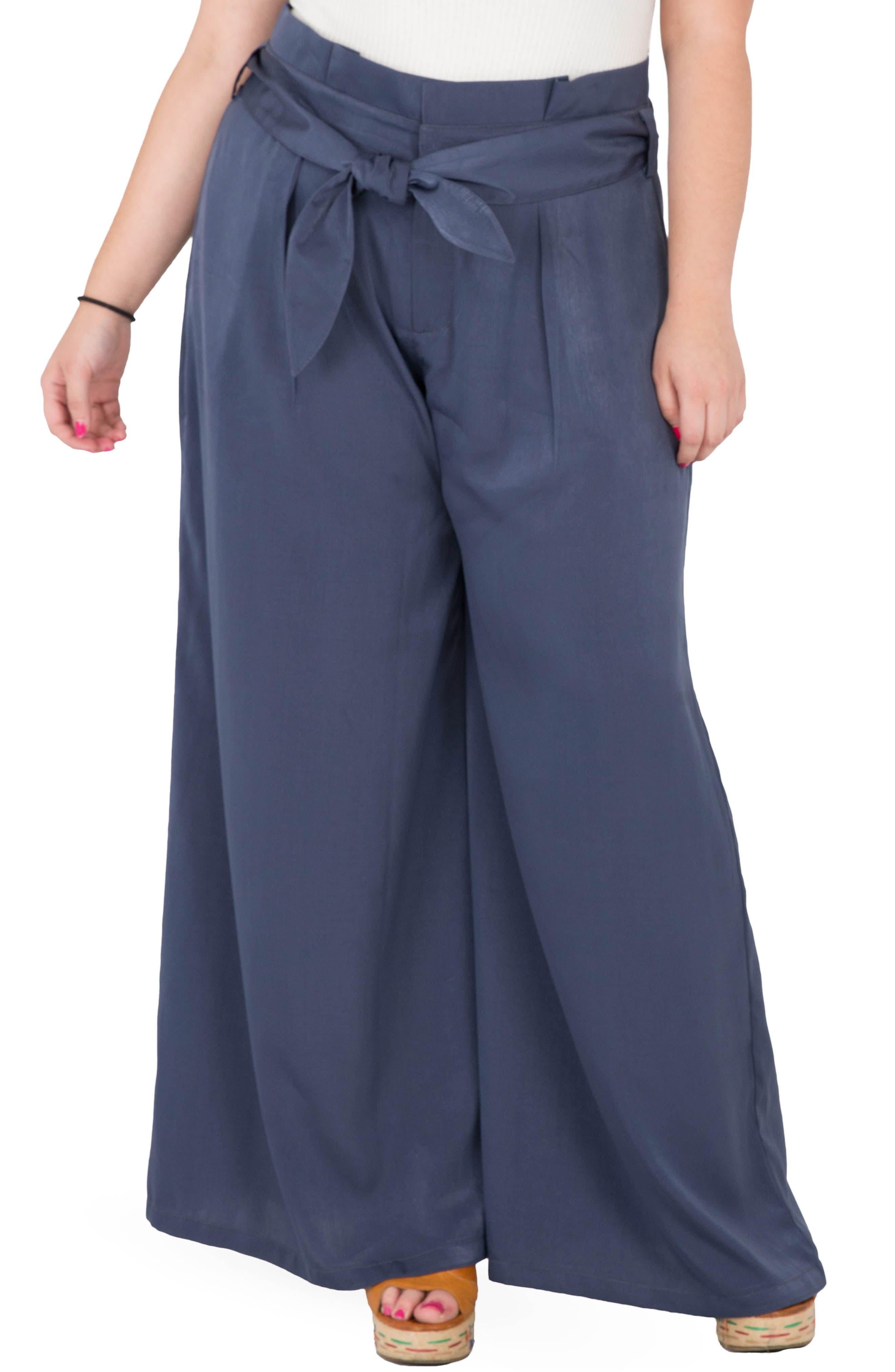 Sue Wide Leg Pants,                         Main,                         color, Navy