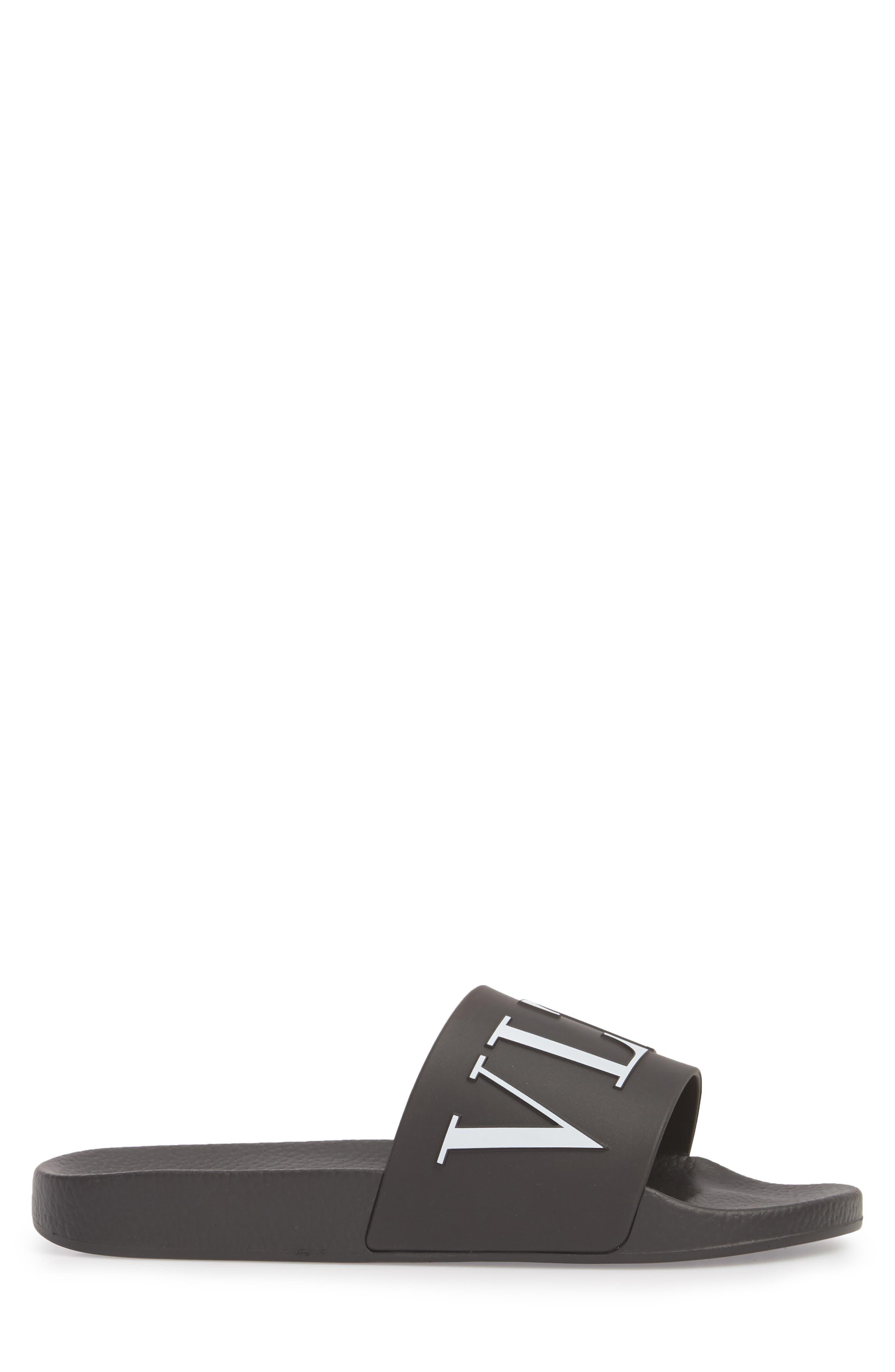 Slide Sandal,                             Alternate thumbnail 3, color,                             Black/ White