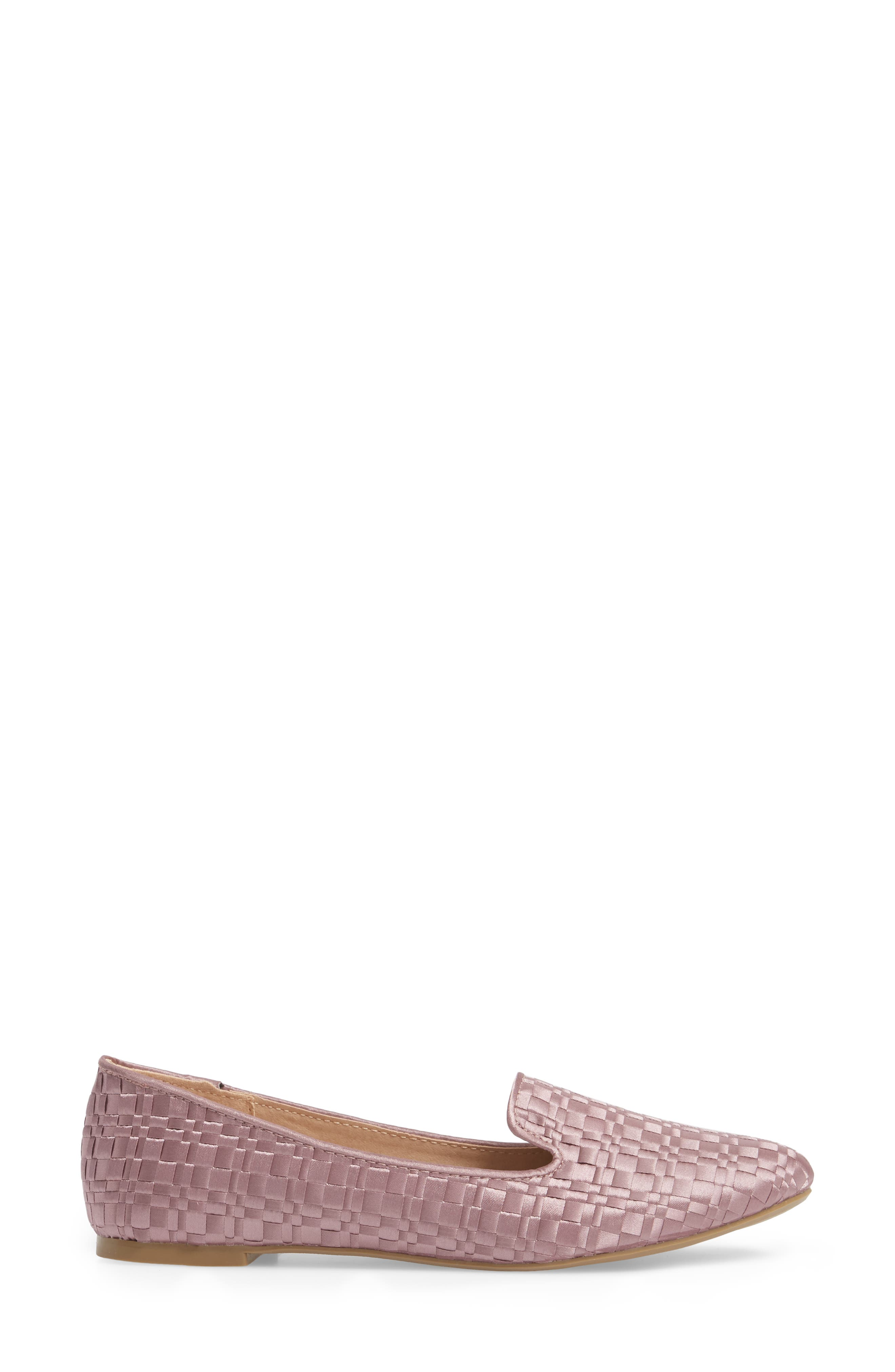 Sasha Textured Woven Loafer,                             Alternate thumbnail 3, color,                             Pink
