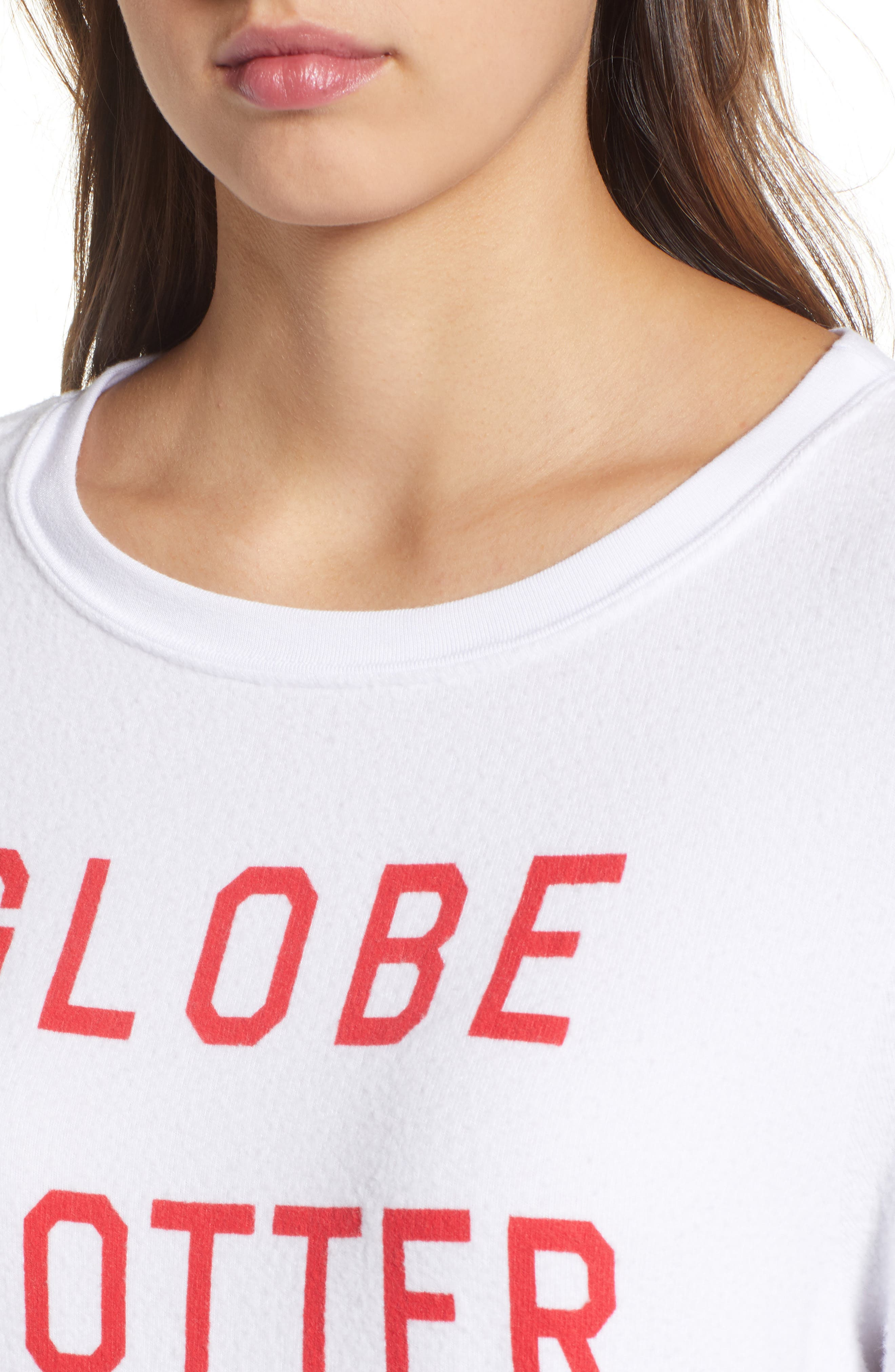 Globetrotter Baggy Beach Pullover,                             Alternate thumbnail 4, color,                             Clean White