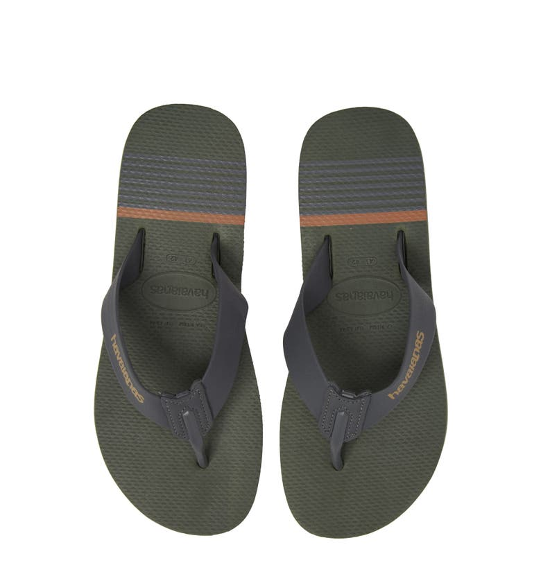 34ab0cc28 Havaianas Urban Craft Flip Flop In Green Olive