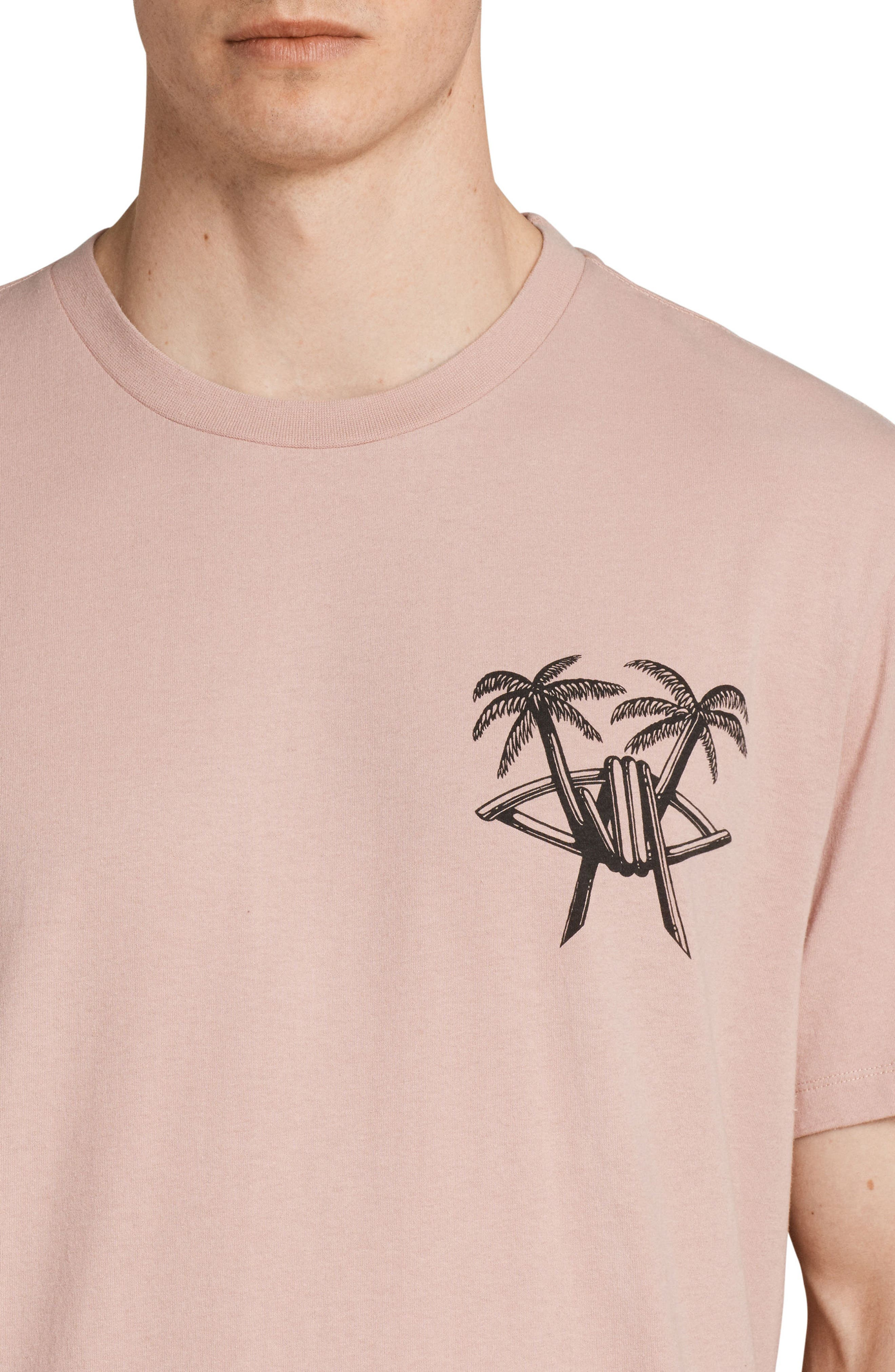 Barbed Palm Short Sleeve T-Shirt,                             Alternate thumbnail 4, color,                             Crepe Pink