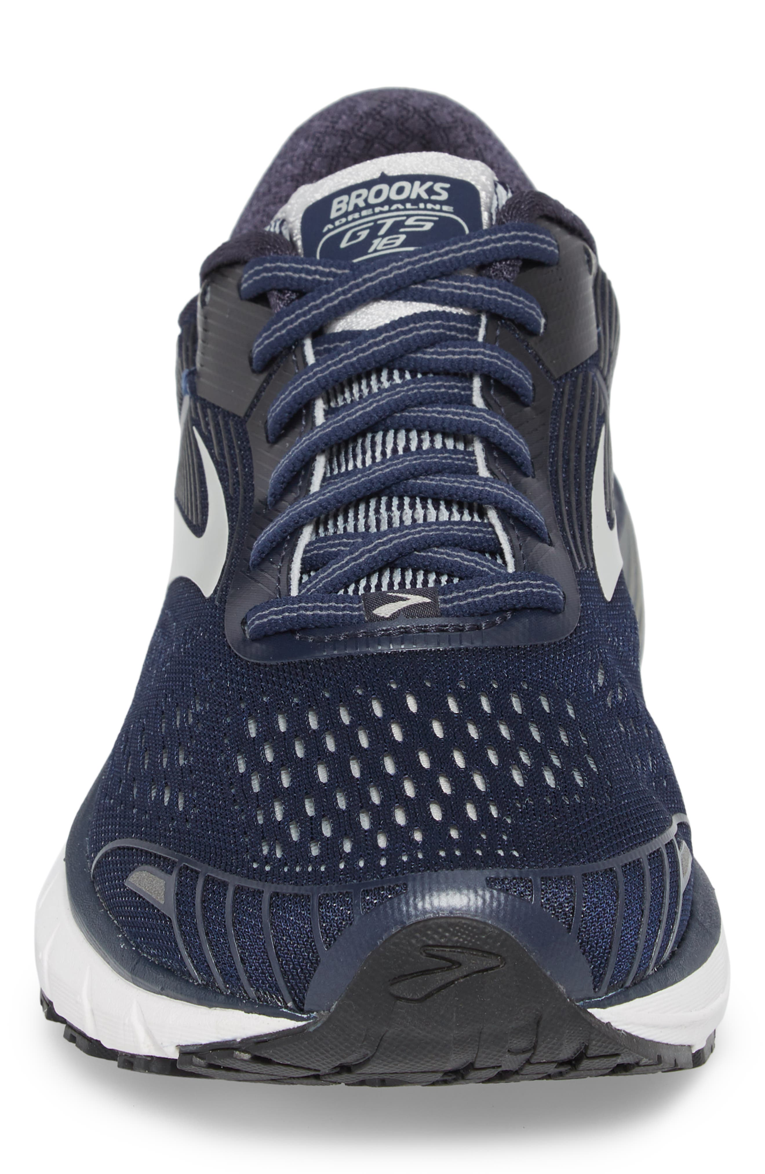 Adrenaline GTS 18 Running Shoe,                             Alternate thumbnail 4, color,                             Navy/ Grey/ Black
