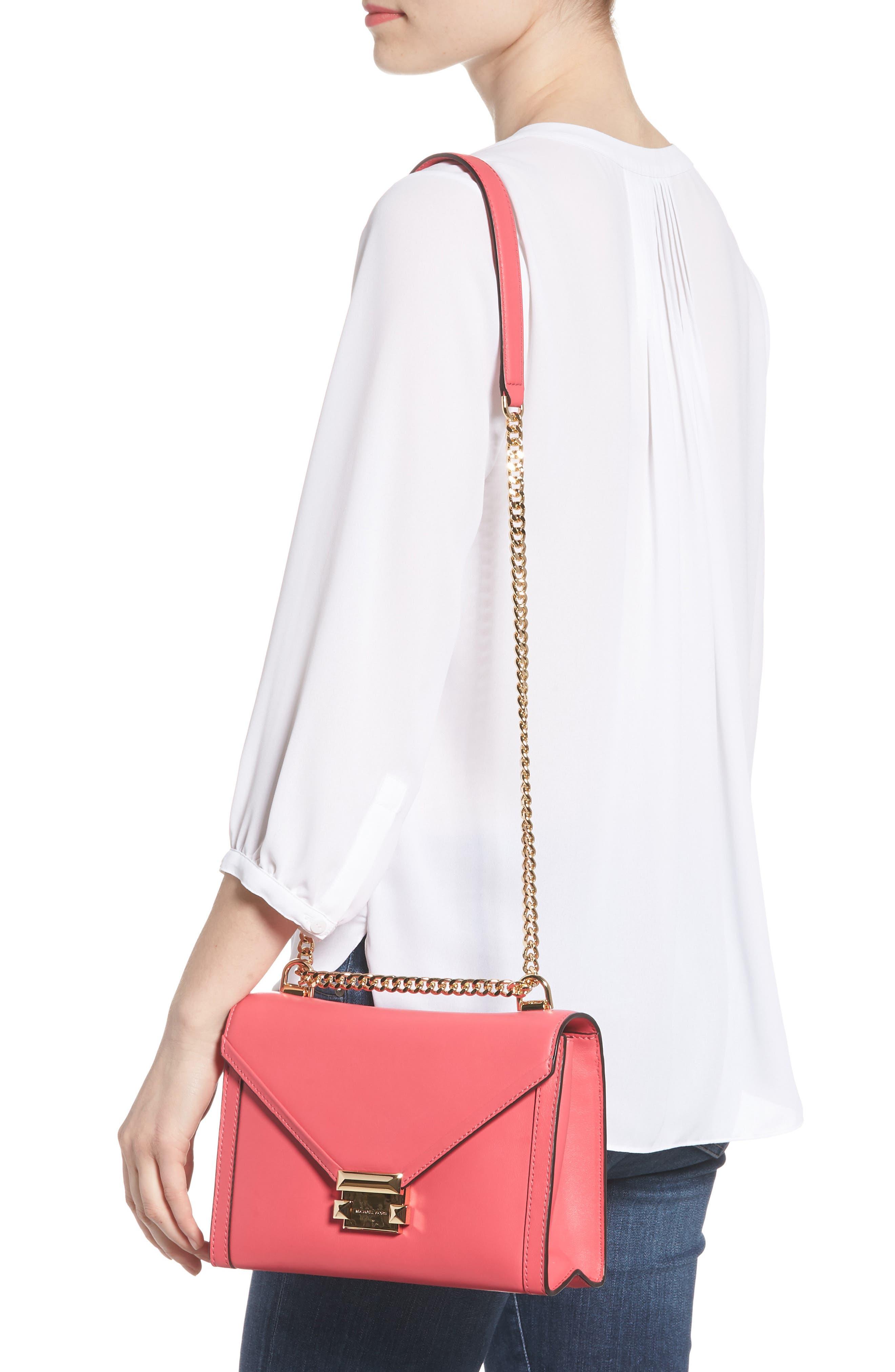 Large Whitney Leather Shoulder Bag,                             Alternate thumbnail 2, color,                             Rose Pink