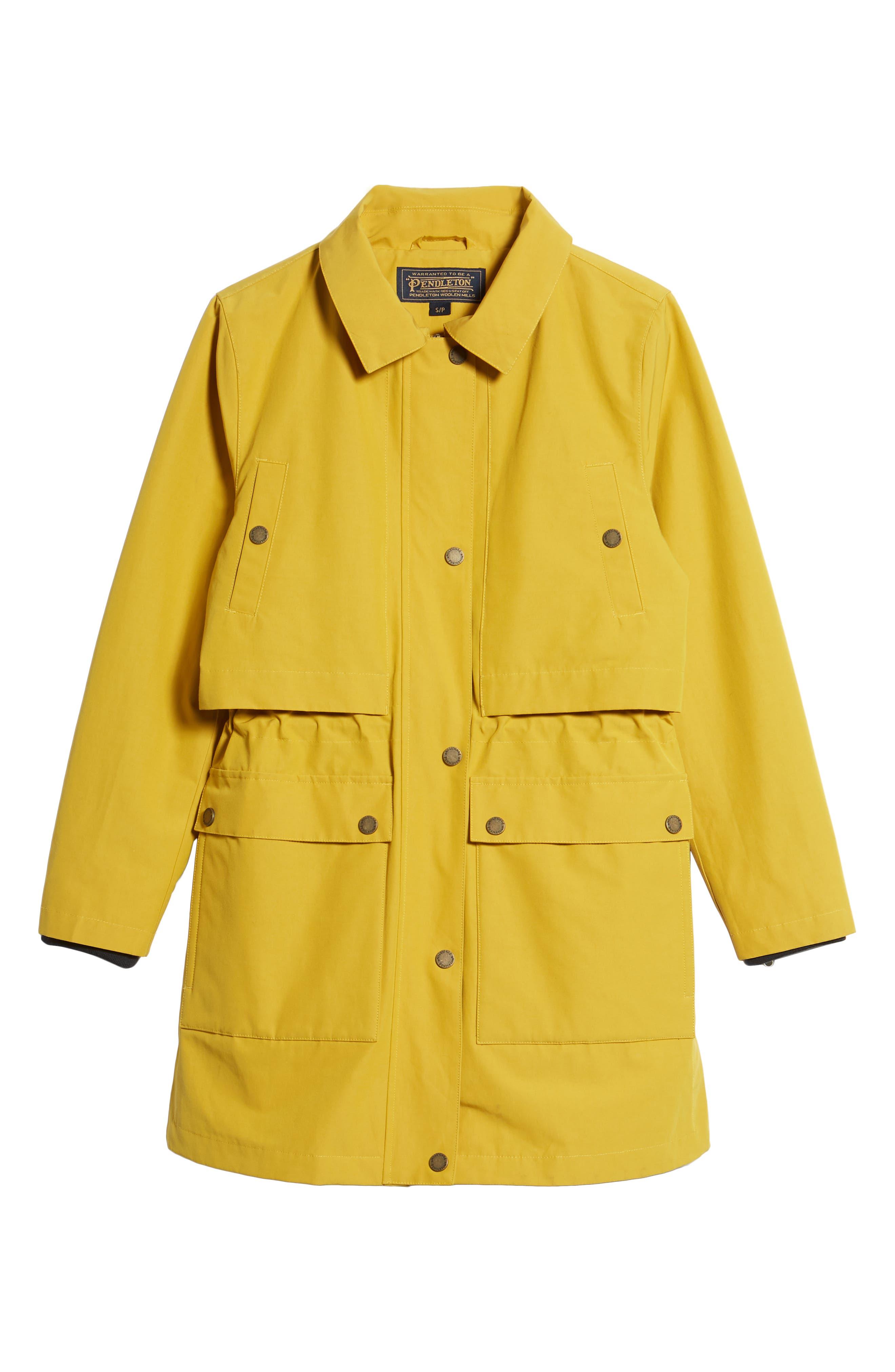 Port Townsend Rain Jacket,                             Alternate thumbnail 7, color,                             Golden Rod