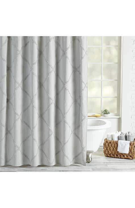 Peri Home Chenille Lattice Shower Curtain