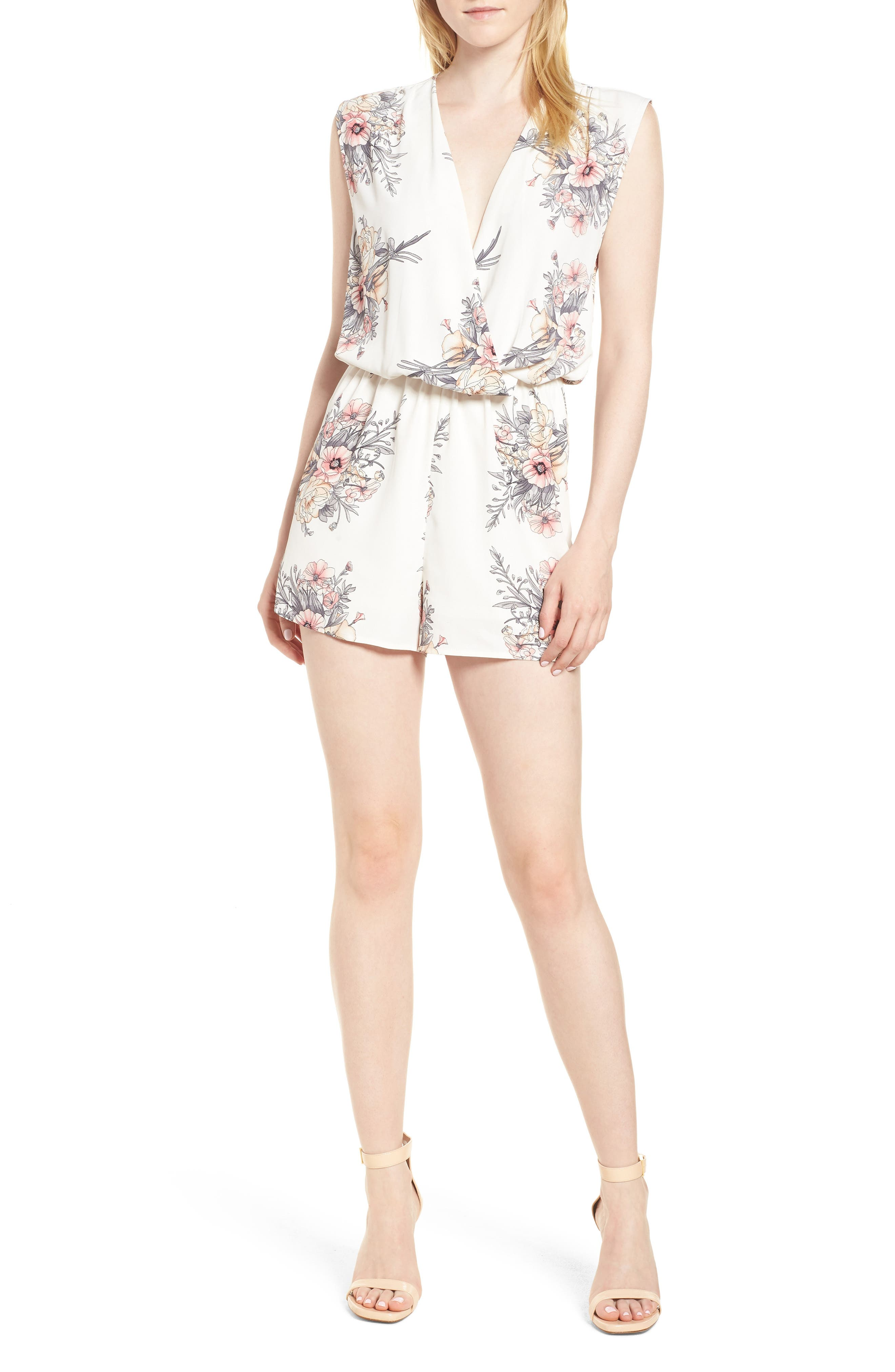 Bishop + Young Summer of Love Romper,                             Main thumbnail 1, color,                             Summer Of Love Print
