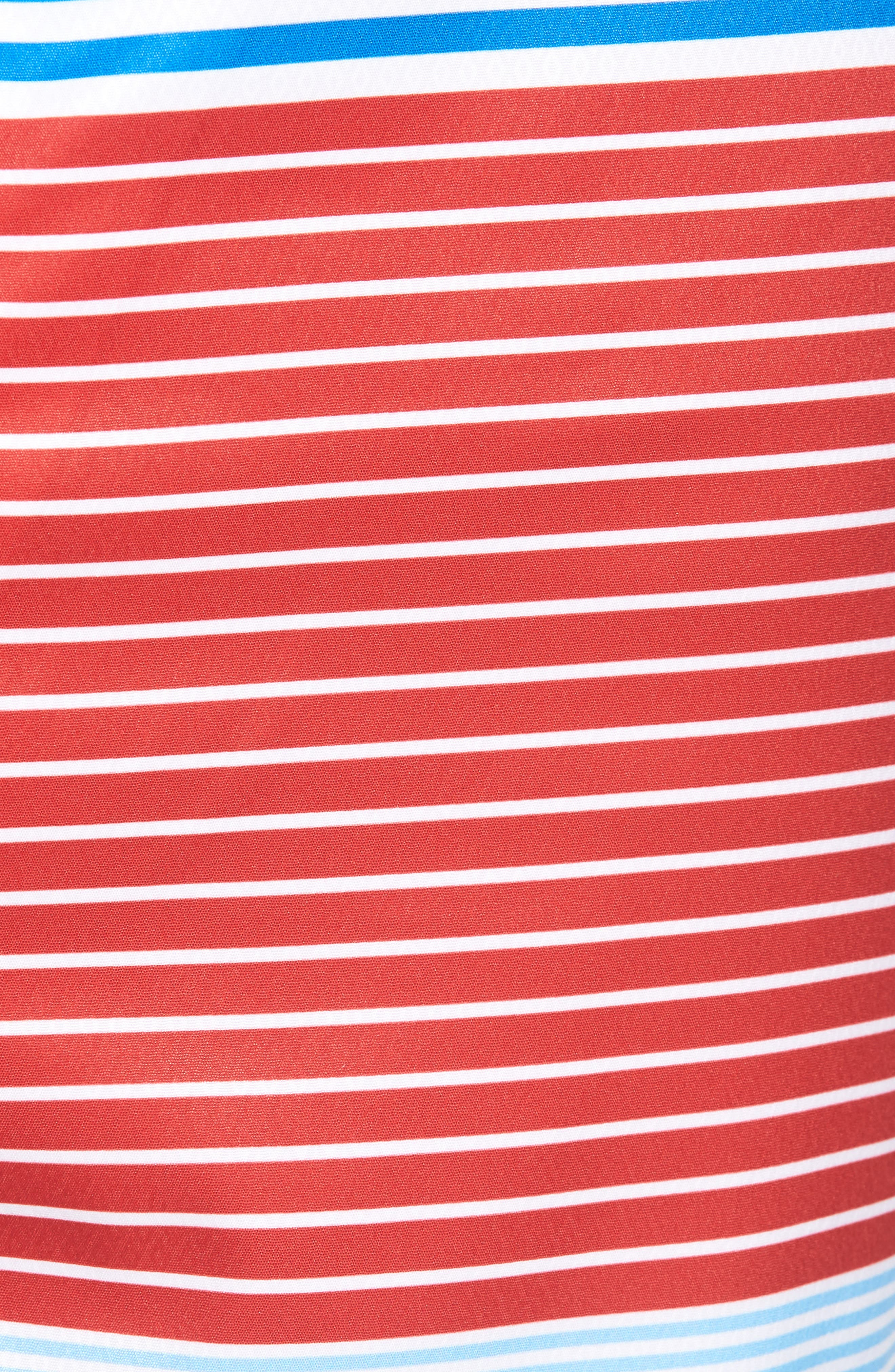 Whale Harbor Stripe Board Shorts,                             Alternate thumbnail 5, color,                             Spinnaker
