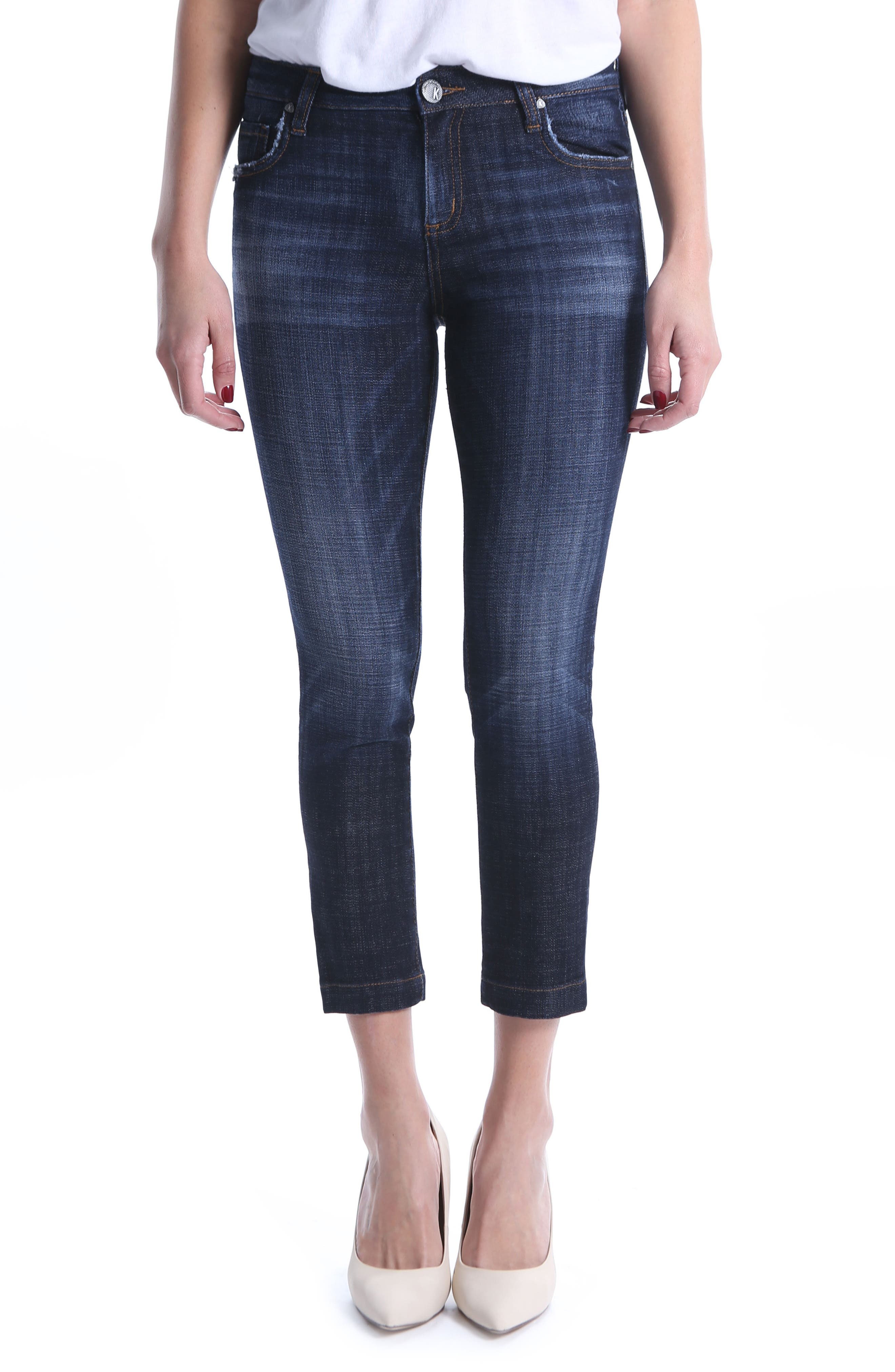 KUT from the Kloth Lauren Crop Straight Leg Jeans,                         Main,                         color, Cultivated