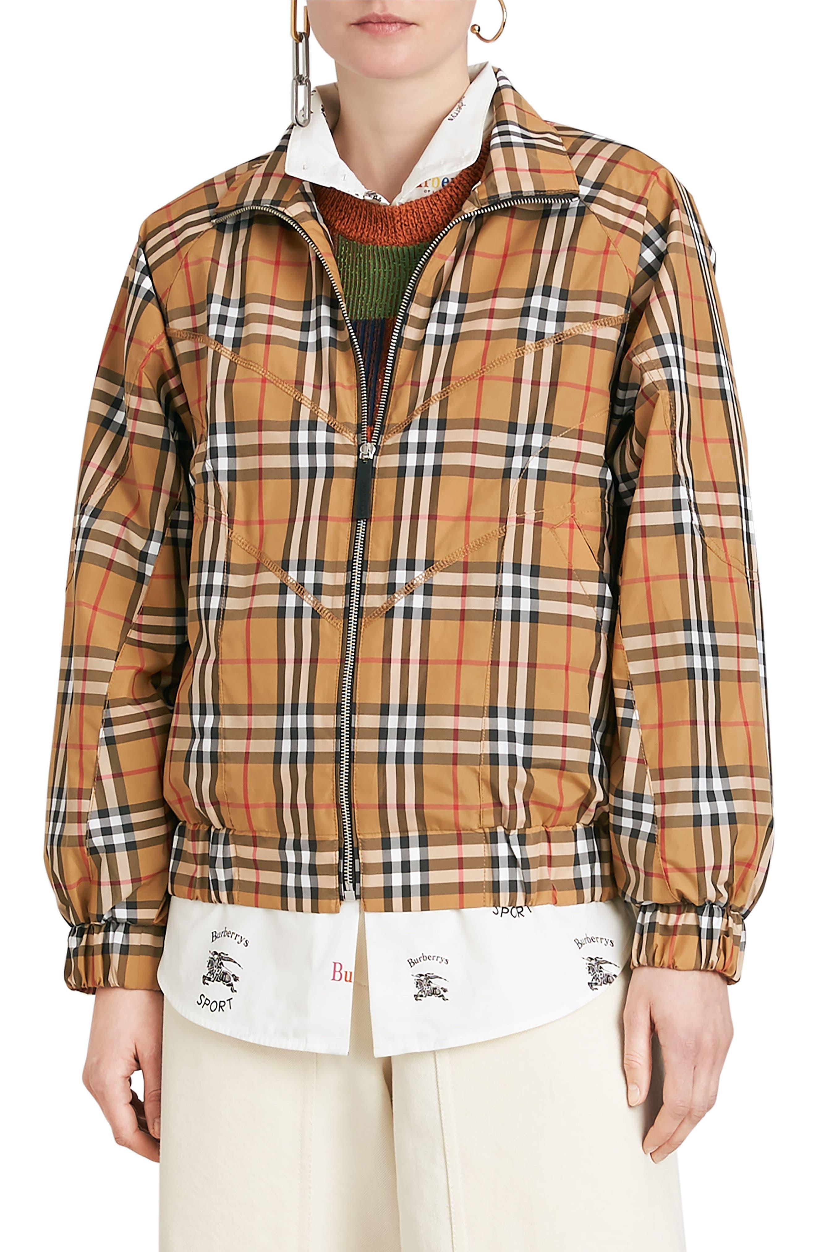 Burberry Corfe Check Print Jacket
