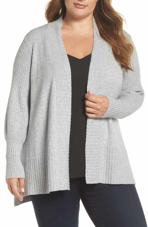 1.STATE Blouson Sleeve Cardigan (Plus Size)