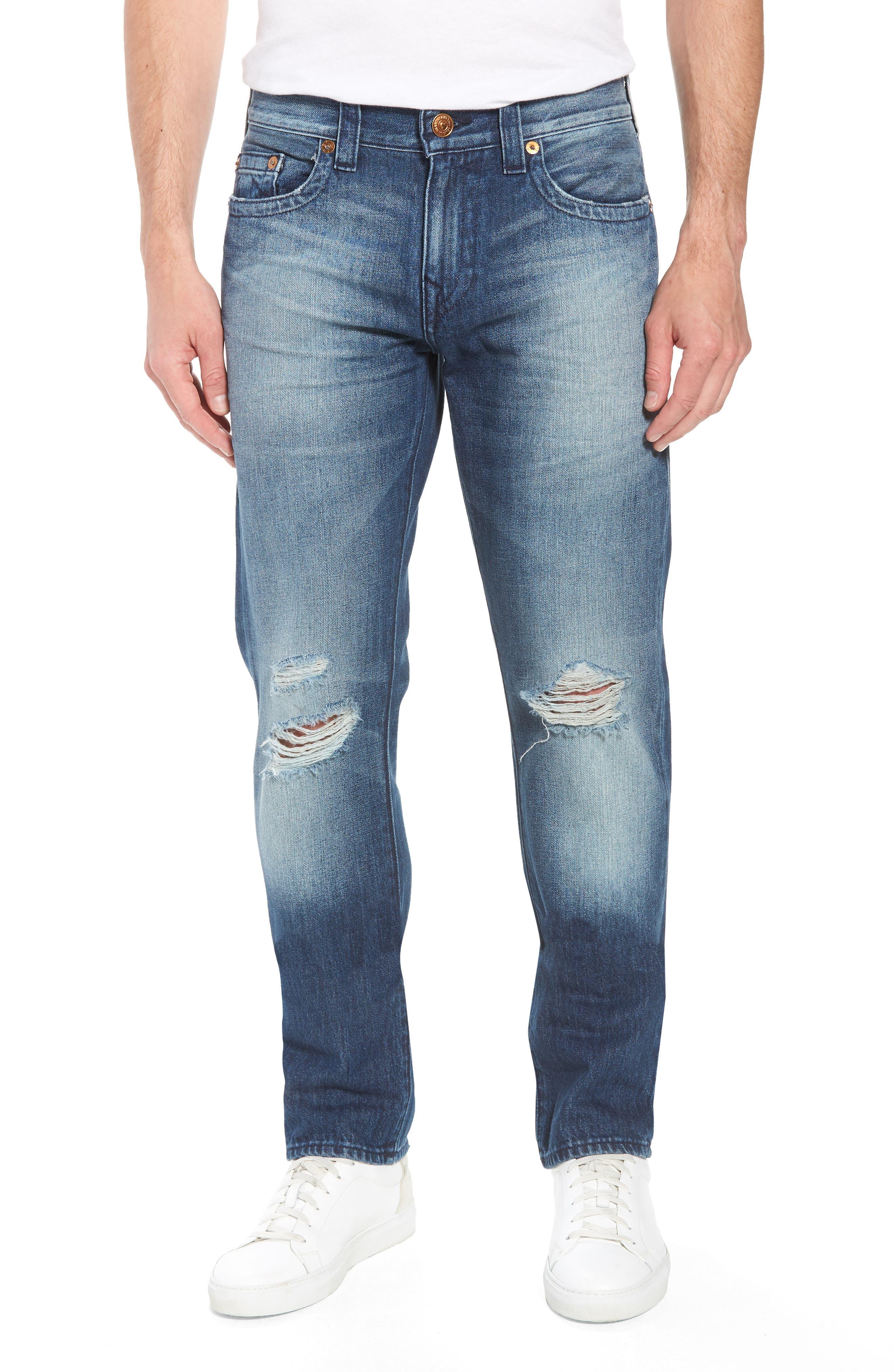 Geno Straight Leg Jeans,                             Main thumbnail 1, color,                             Worn Suspect