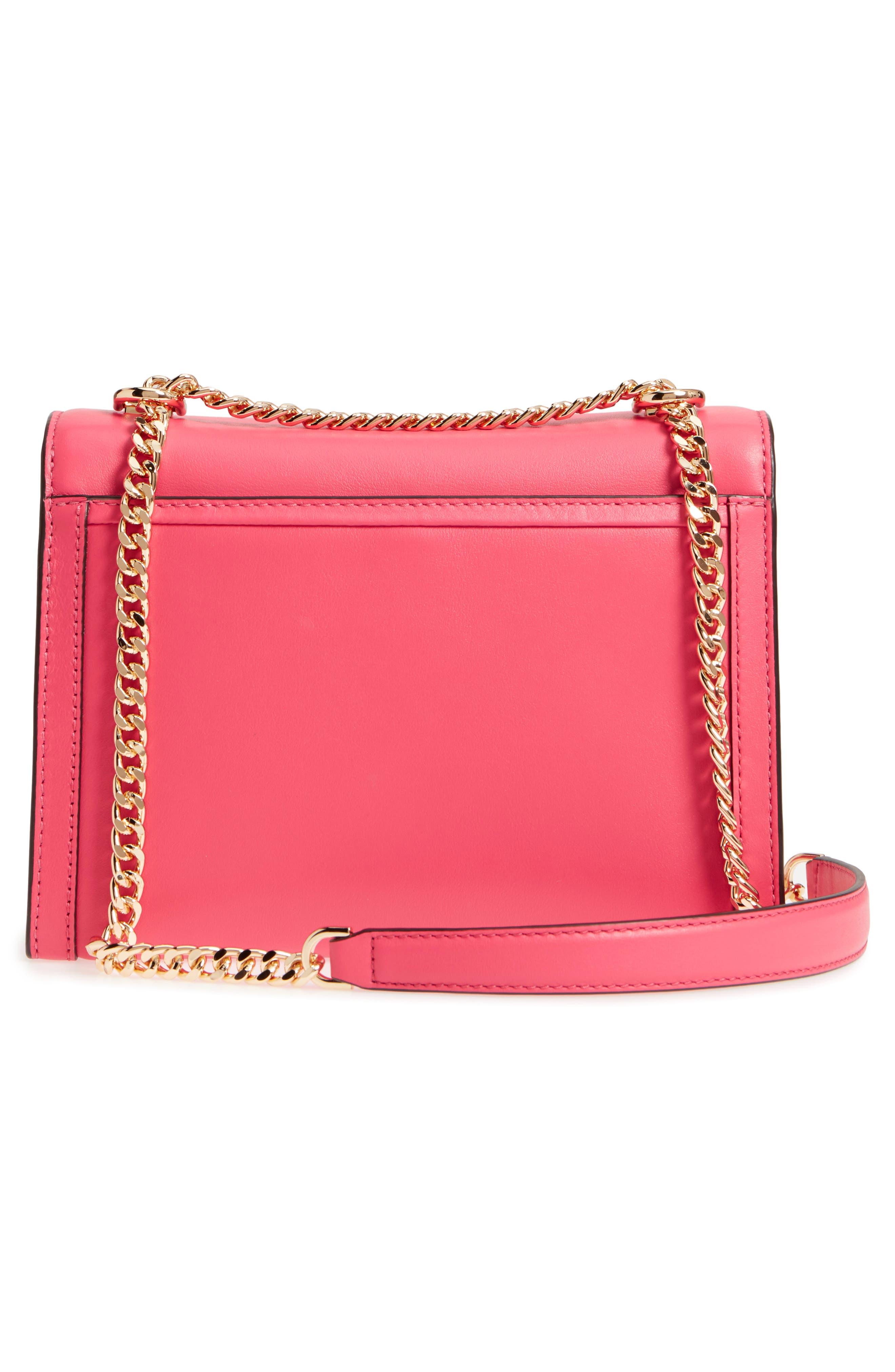 Large Whitney Leather Shoulder Bag,                             Alternate thumbnail 3, color,                             Rose Pink