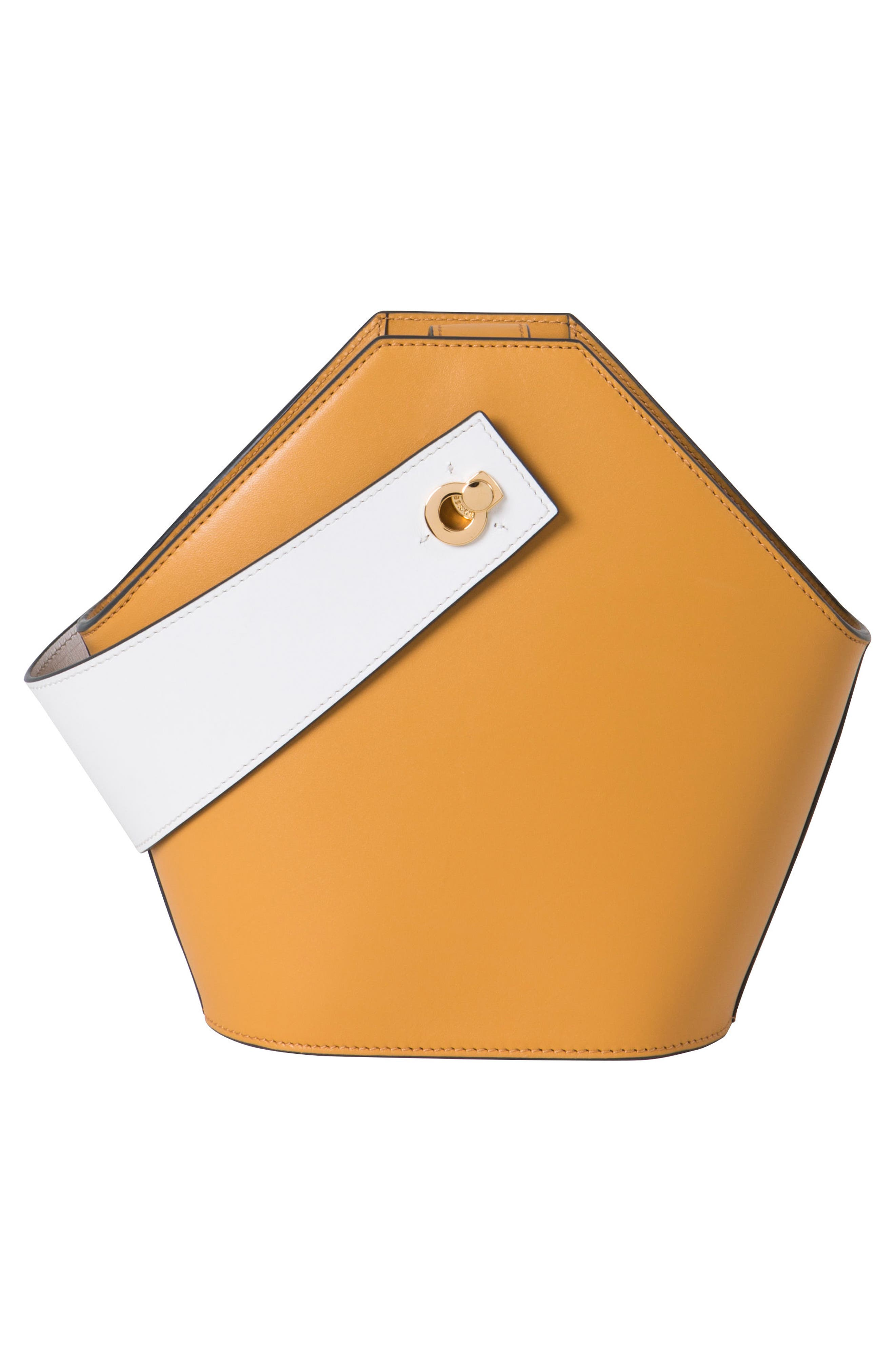 Mini Johnny Leather Bucket Bag,                             Alternate thumbnail 5, color,                             Sand