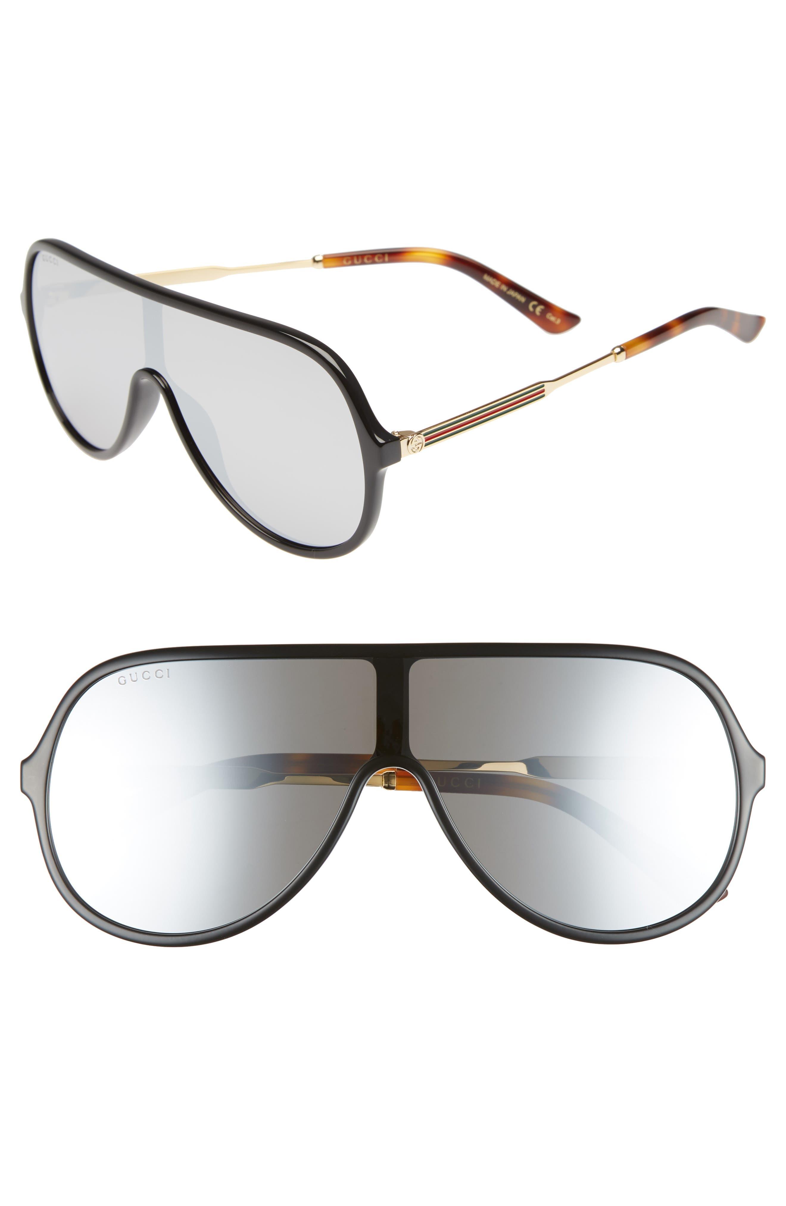 99mm Oversize Shield Sunglasses,                         Main,                         color, Black