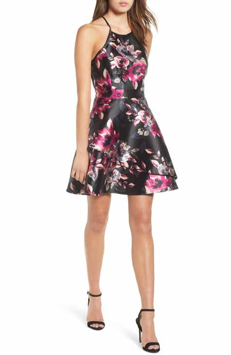Women S Black Fit Amp Flare Dresses Nordstrom
