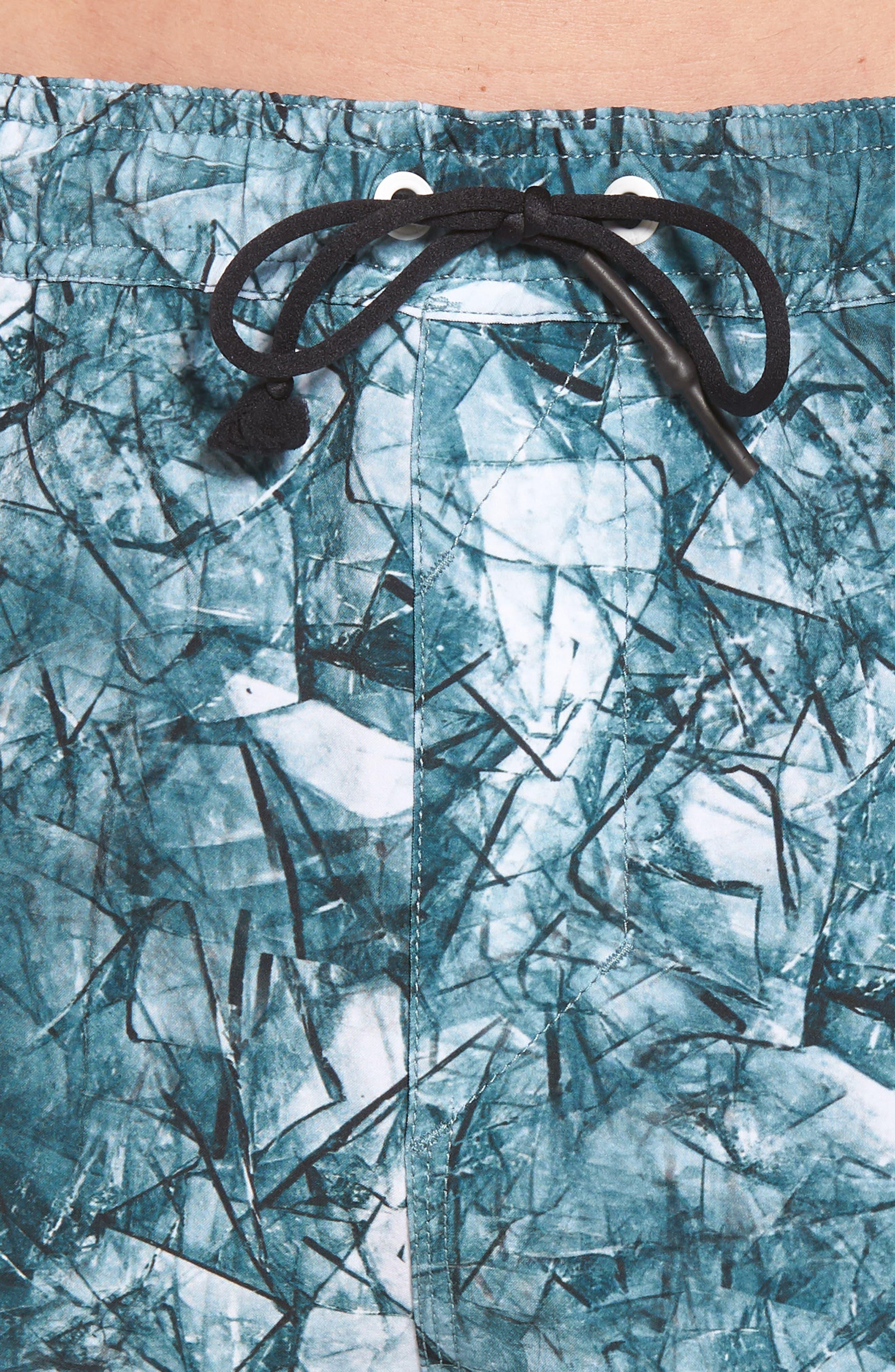 Desmond Swim Trunks,                             Alternate thumbnail 4, color,                             Shattered Blue