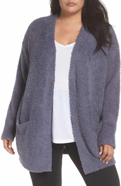 Barefoot Dreams® CozyChic® Cardigan (Plus Size) by BAREFOOT DREAMS