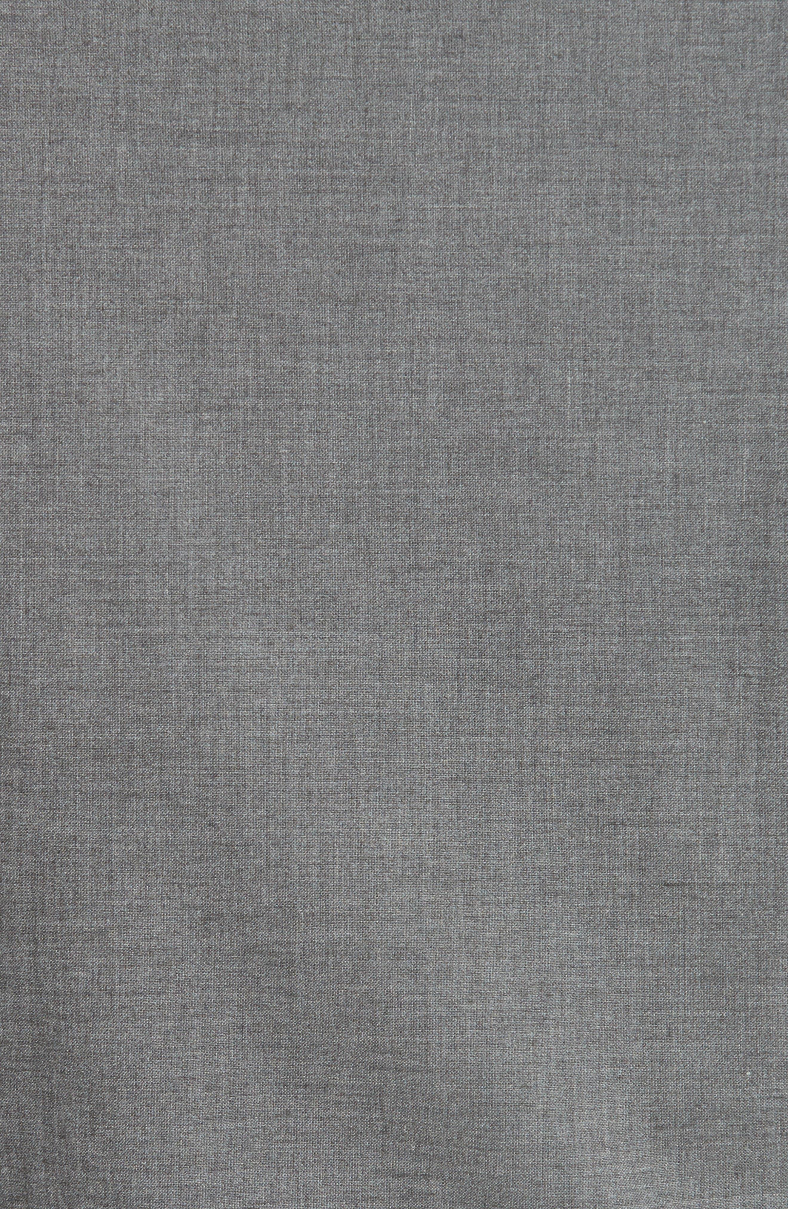 Slim Fit Stretch Cotton Twill Vest,                             Alternate thumbnail 5, color,                             Dark Grey