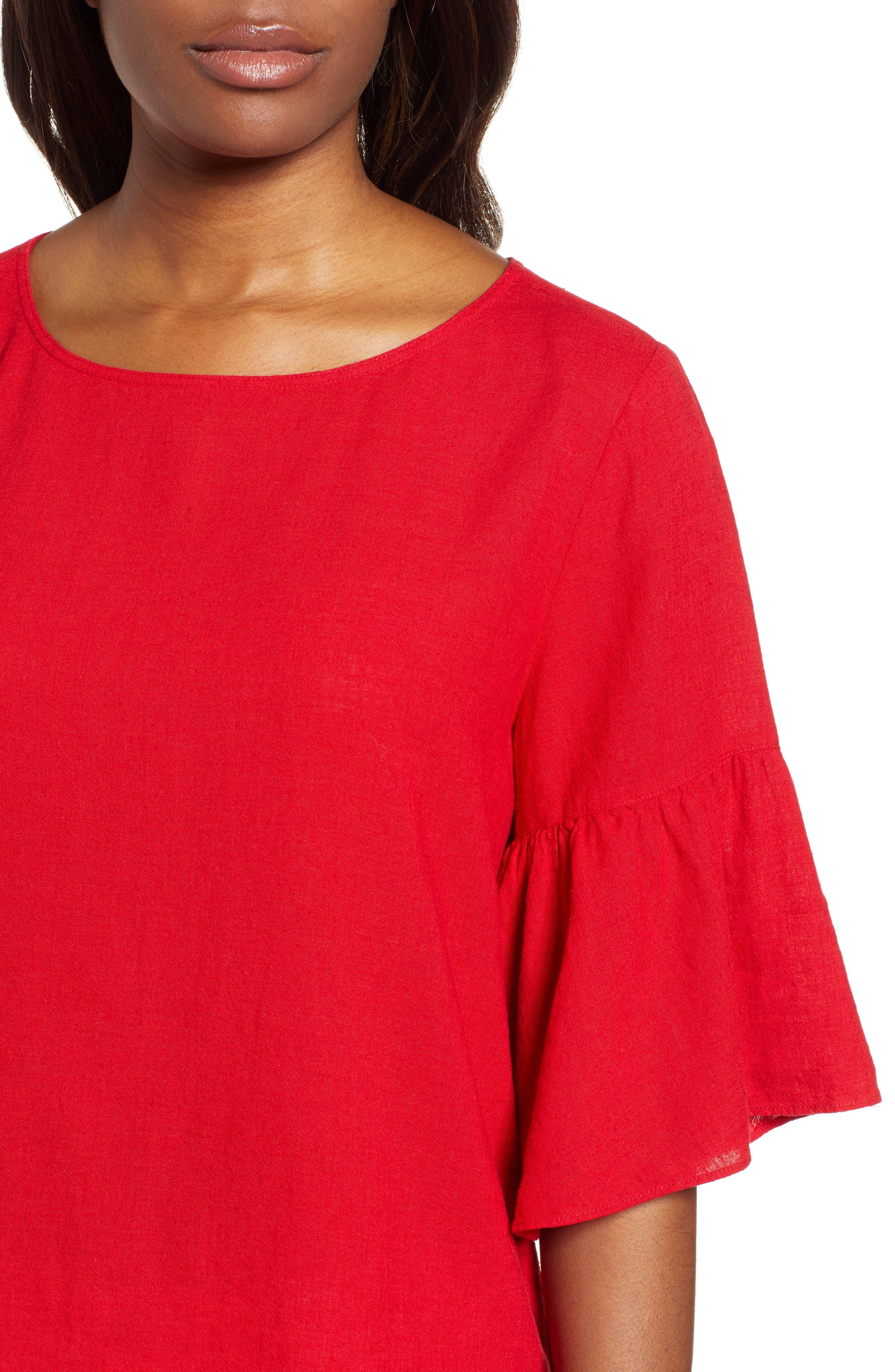 Rumba Top,                             Alternate thumbnail 4, color,                             Red Sangria