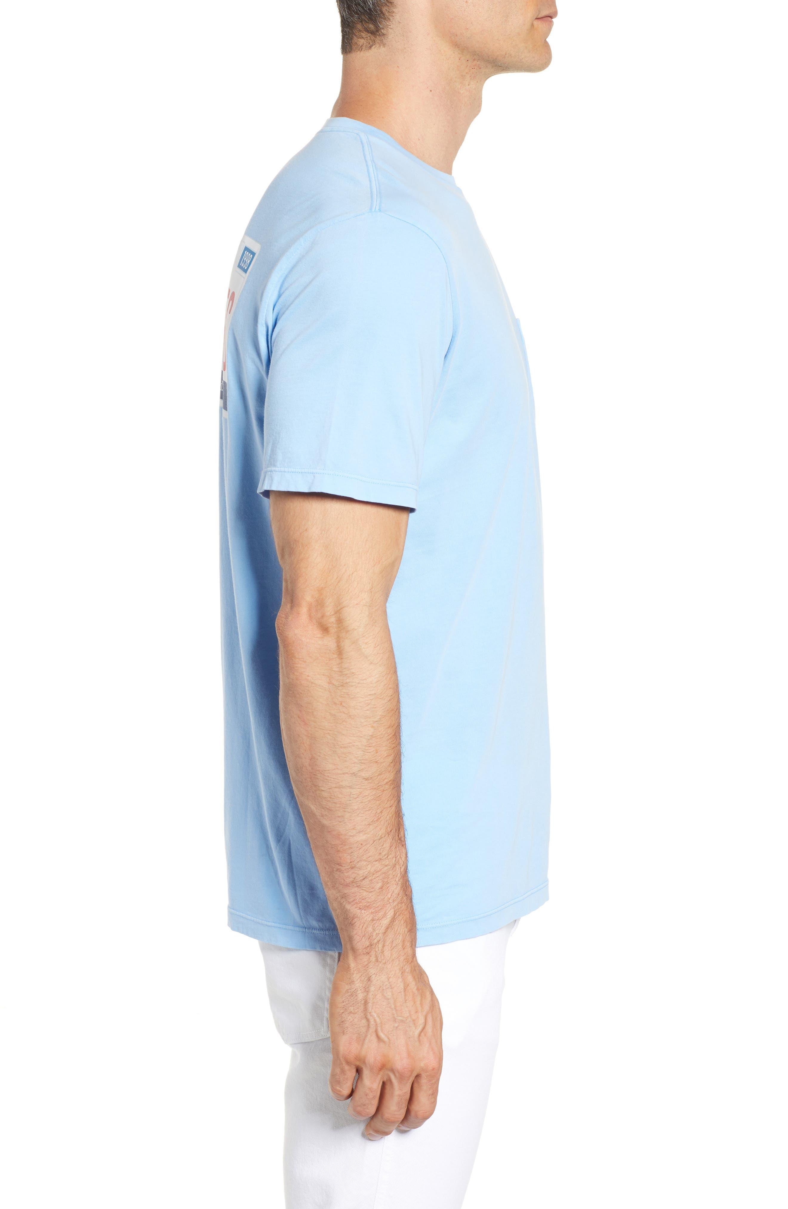Tie Guys Plate Regular Fit Crewneck T-Shirt,                             Alternate thumbnail 3, color,                             Jake Blue